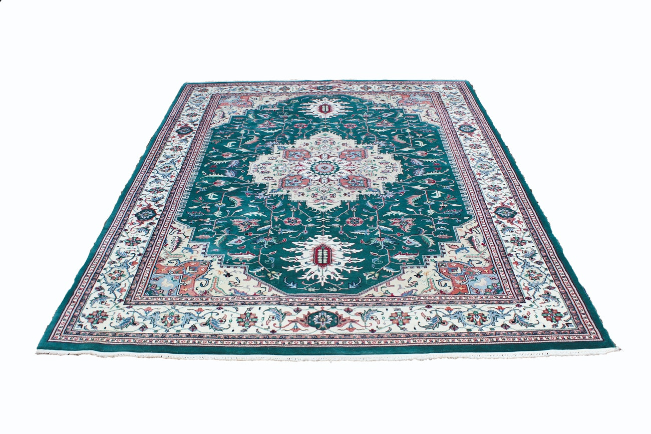 100% Indian Wool Pile Hand-knotted Area Rug