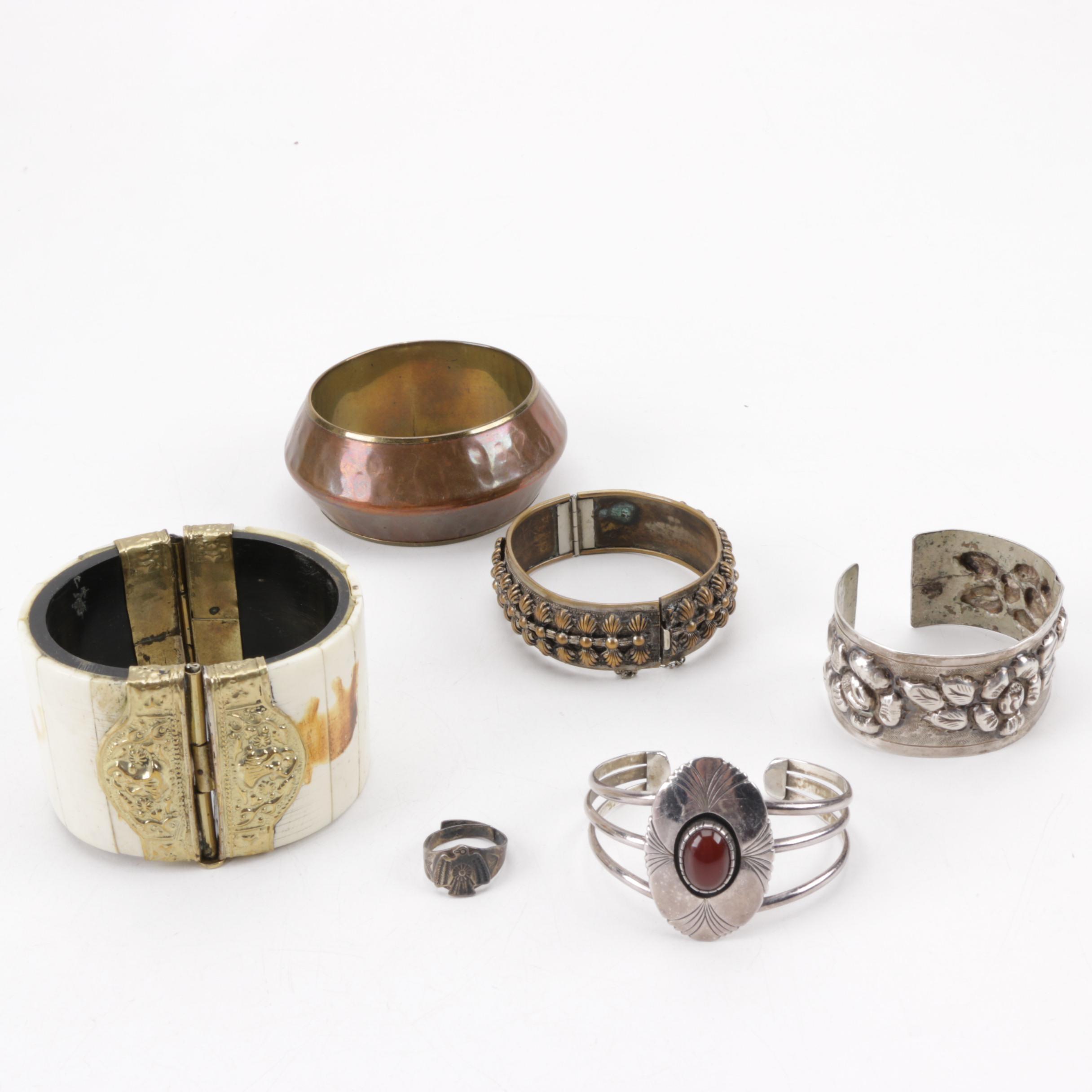 Vintage Bracelets Including A Ring