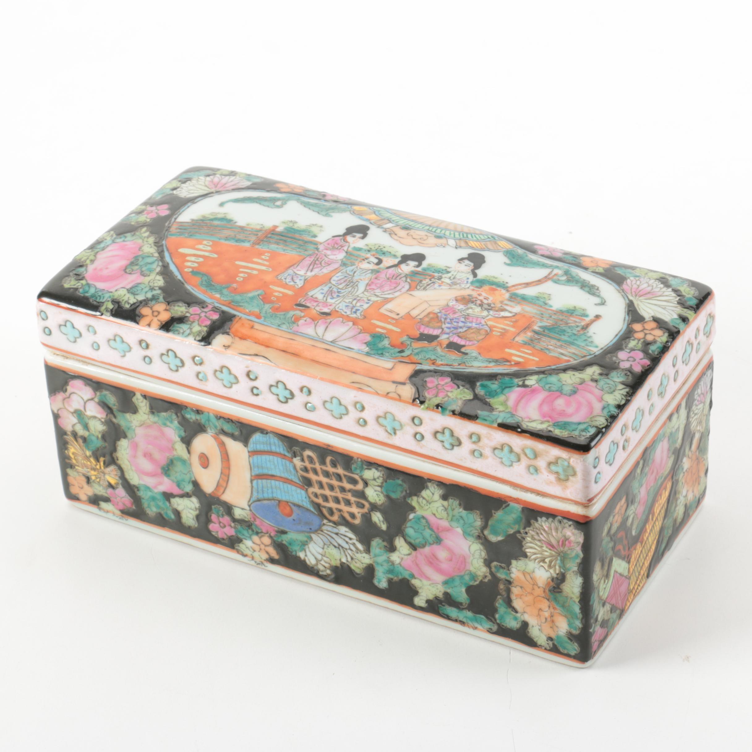 Chinese Porcelain Brush Box