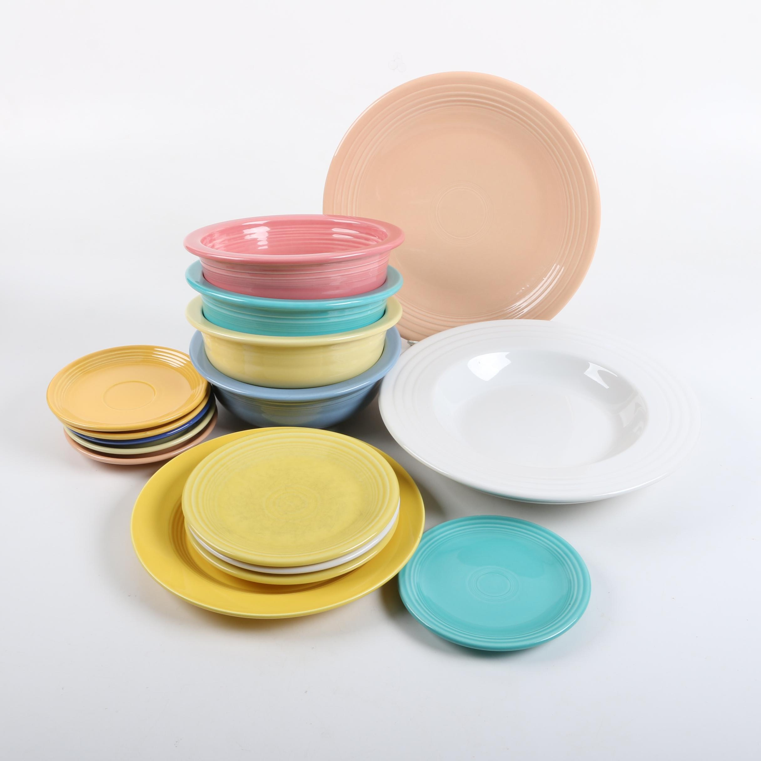 Collection of Fiesta Ceramic Tableware