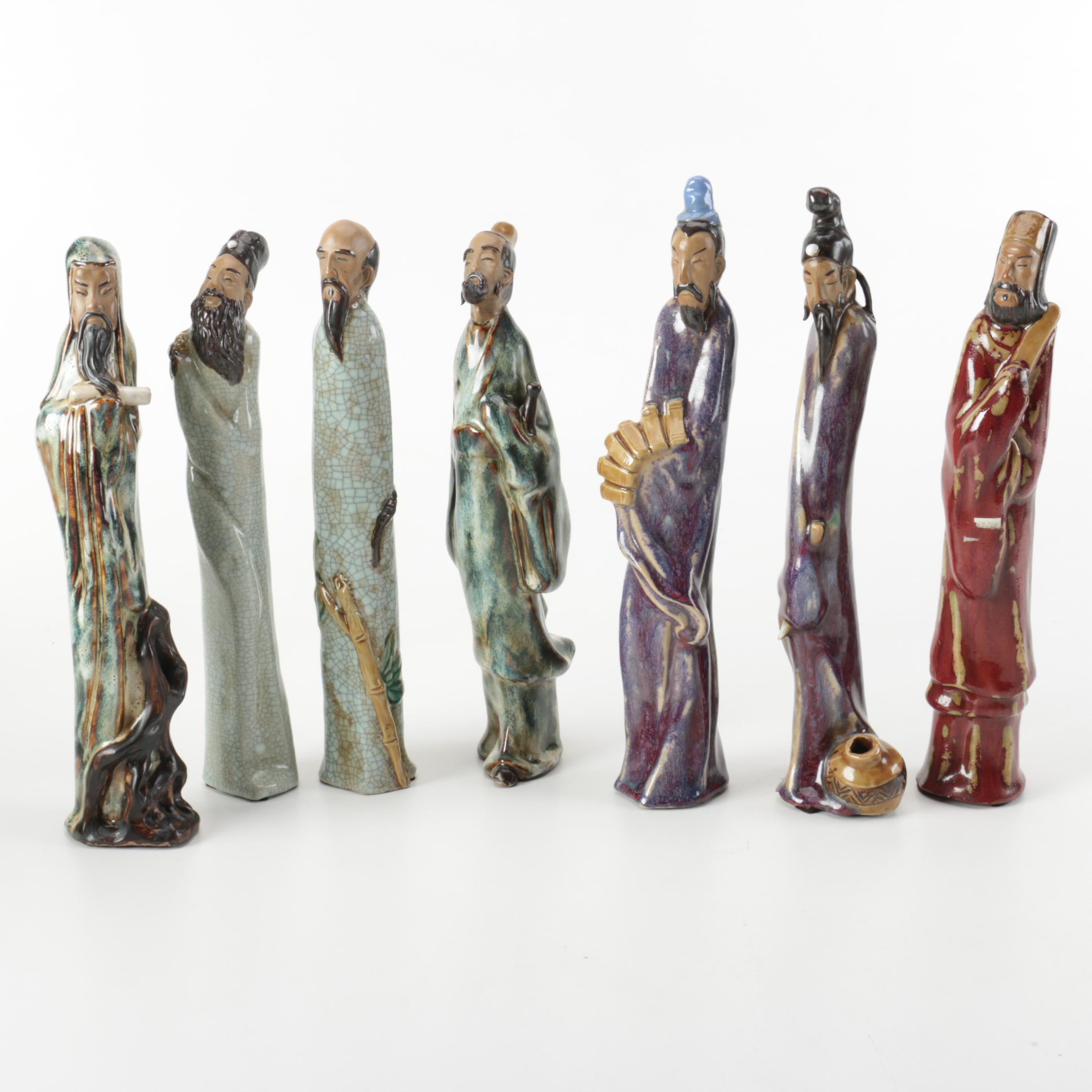 Collection of Ceramic Asian Figurines