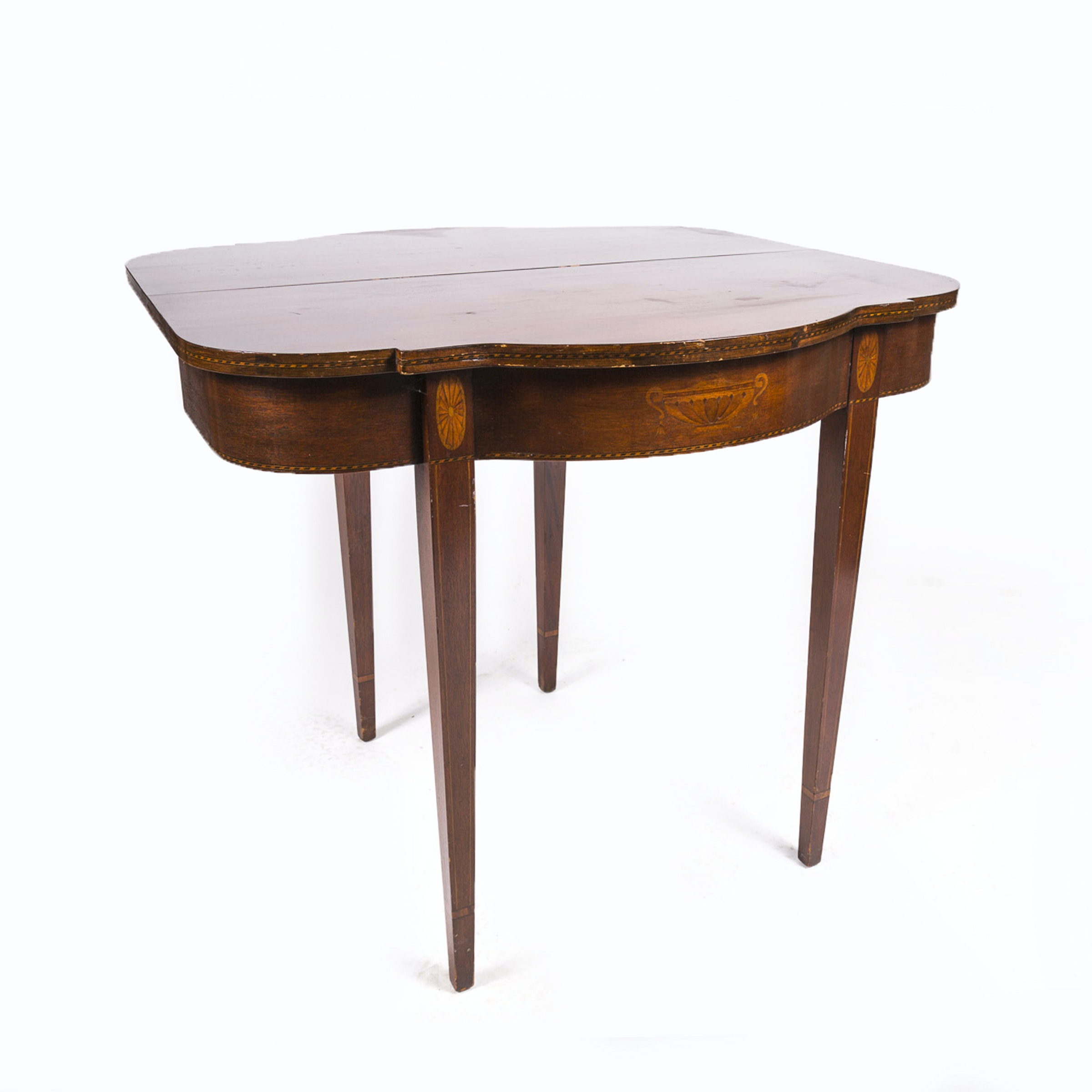 Heppelwhite Style Mahogany Game Table with Marquetry from Fine Arts Furniture