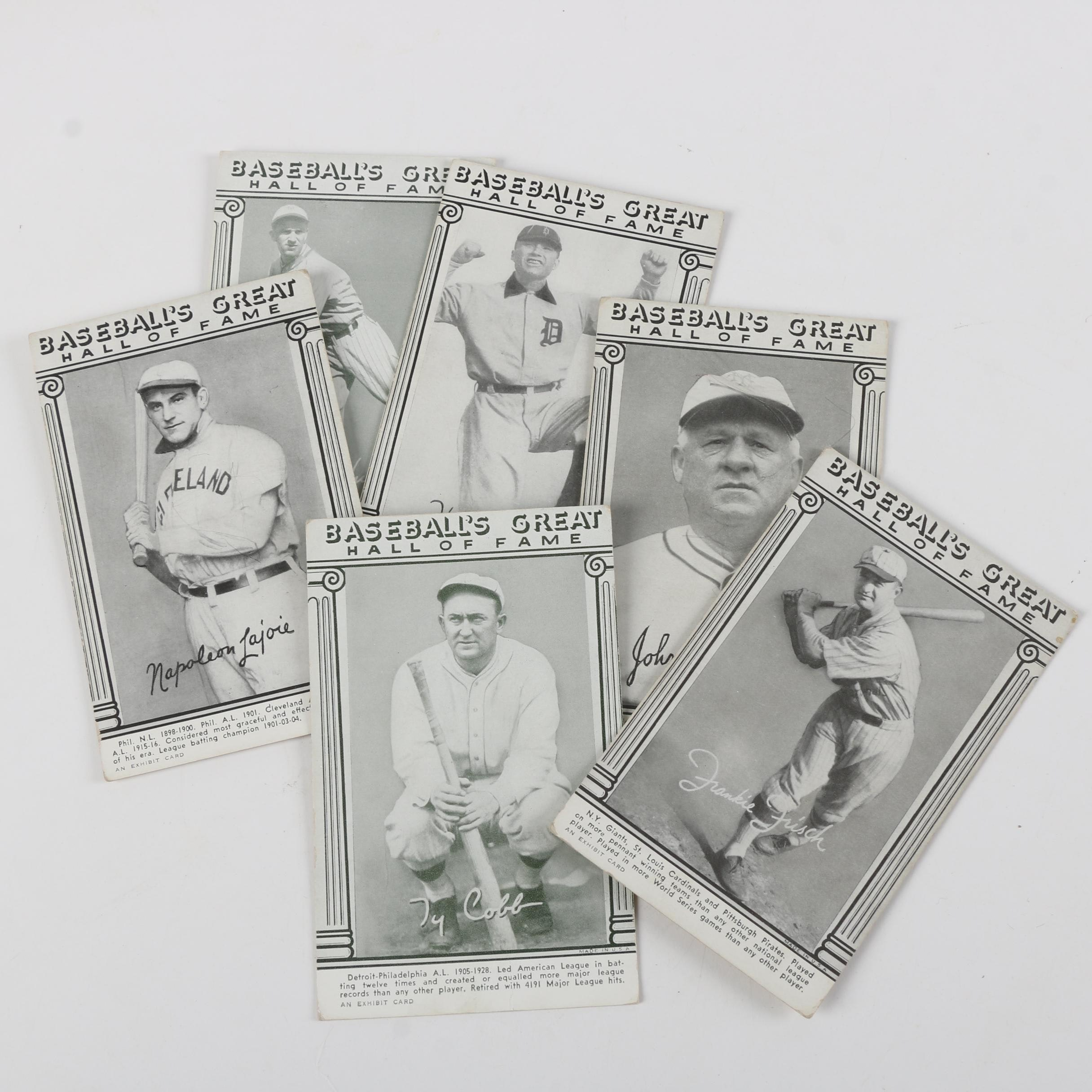 "1948 Exhibit ""Baseball's Great Hall of Fame"" Baseball Trading Cards"