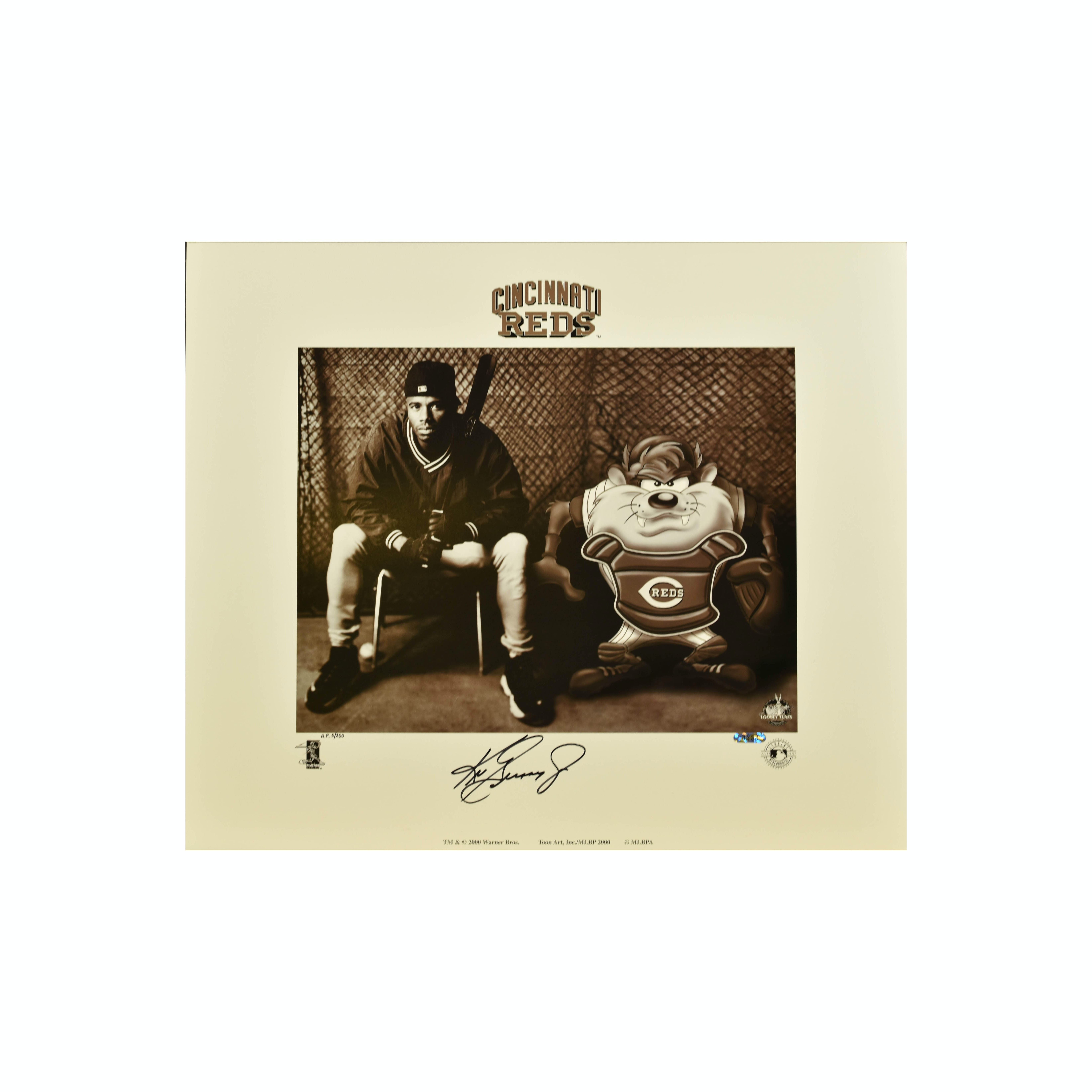 Warner Bros. - L.E. Signed -Ken Griffey Jr. and Taz Lithograph
