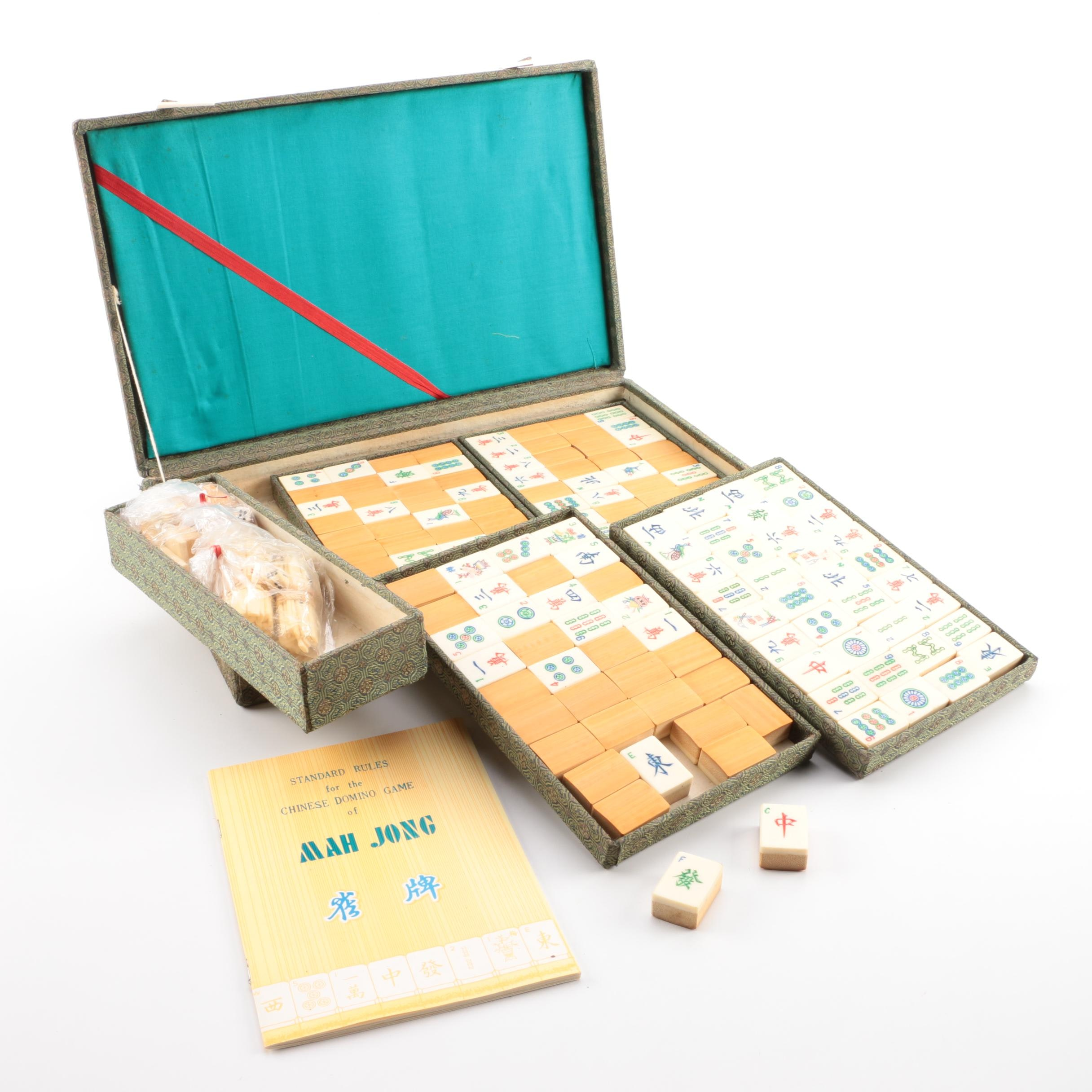 Vintage Mah Jong Set with Case