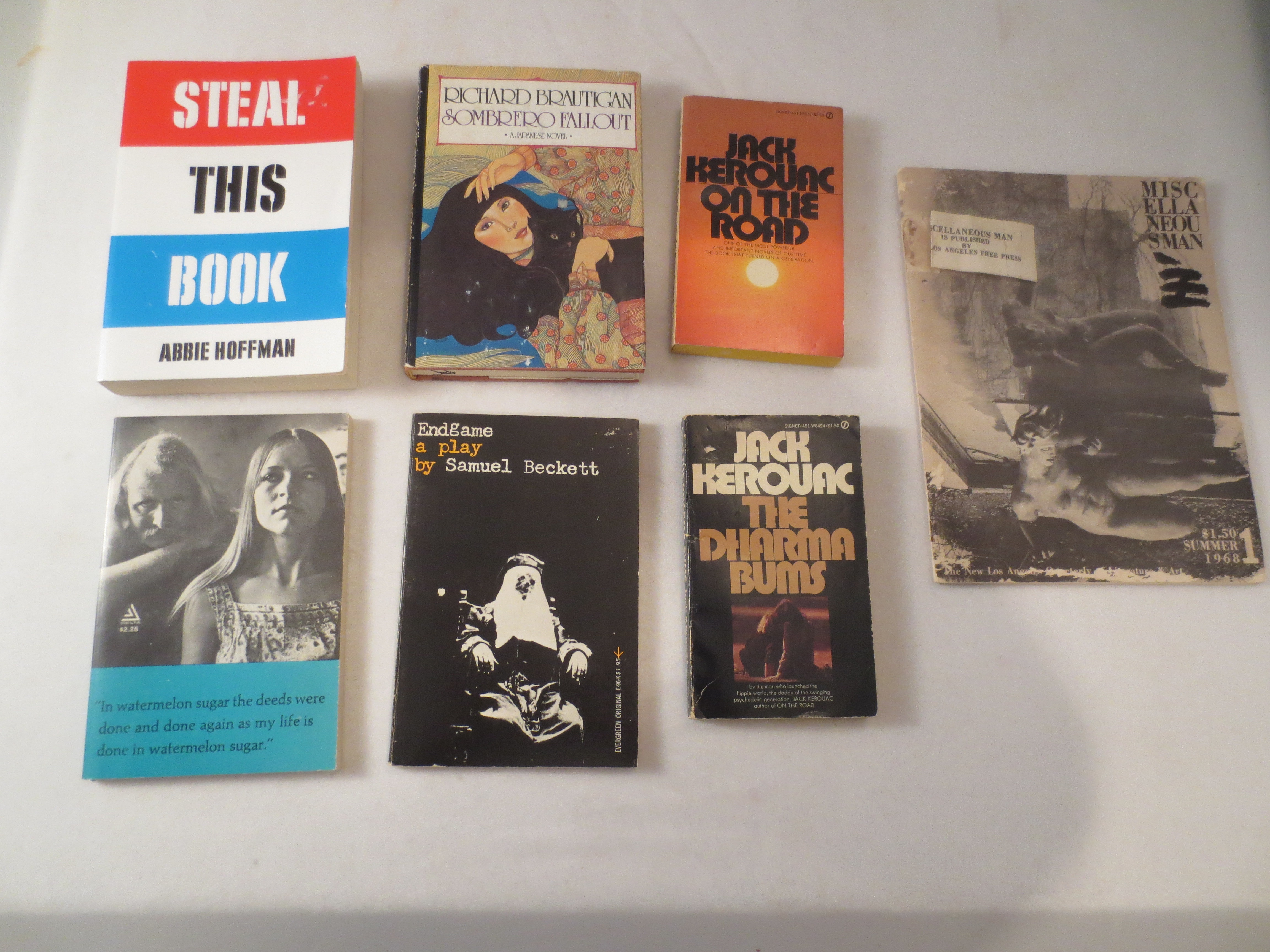 Collections of 7 60's classics including Steal this Book by Abbie Hoffman