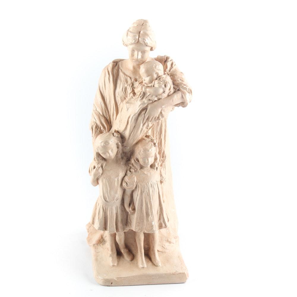 Alva Studios Sculpture of Mother & Children