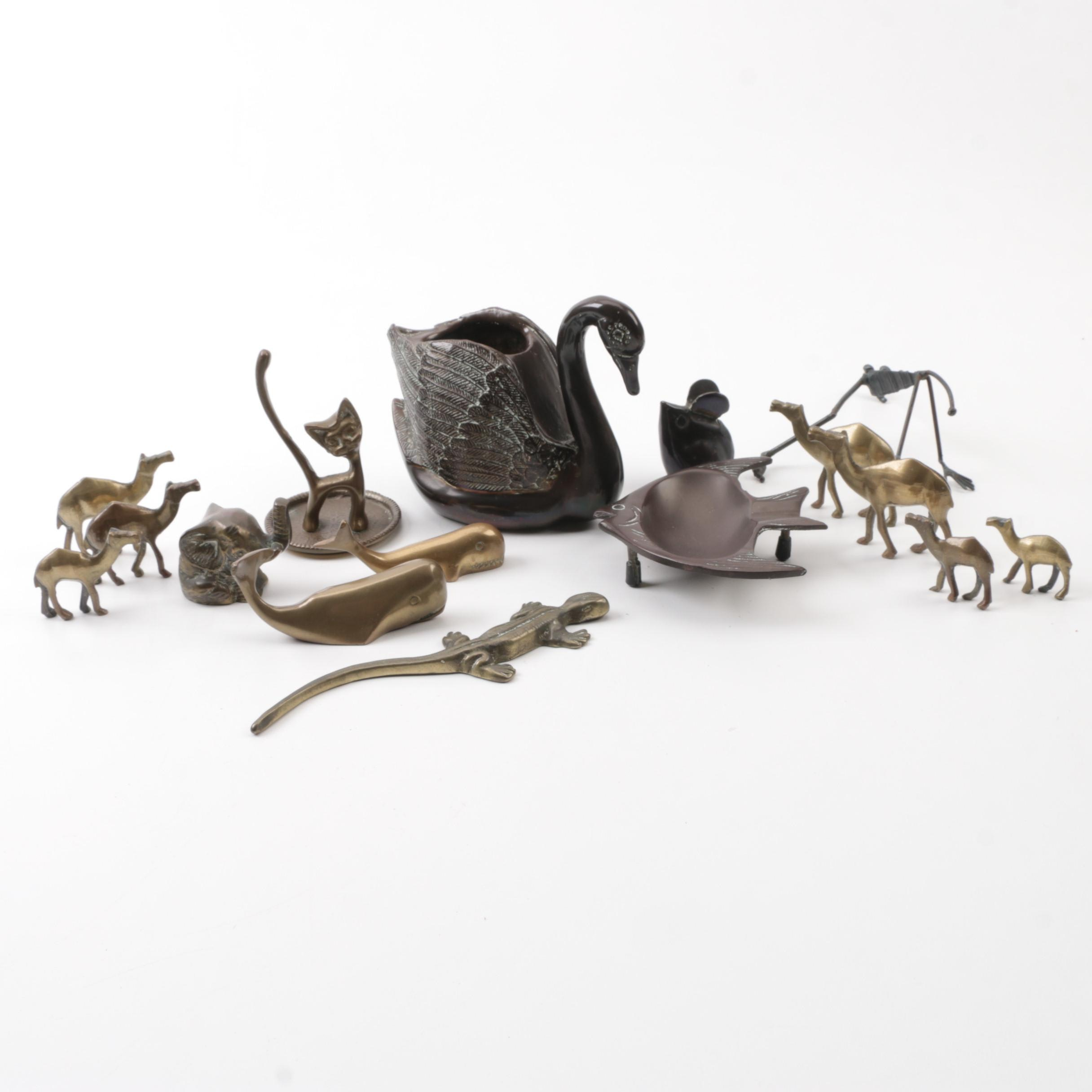 Vintage Brass Animal Figurines and Décor