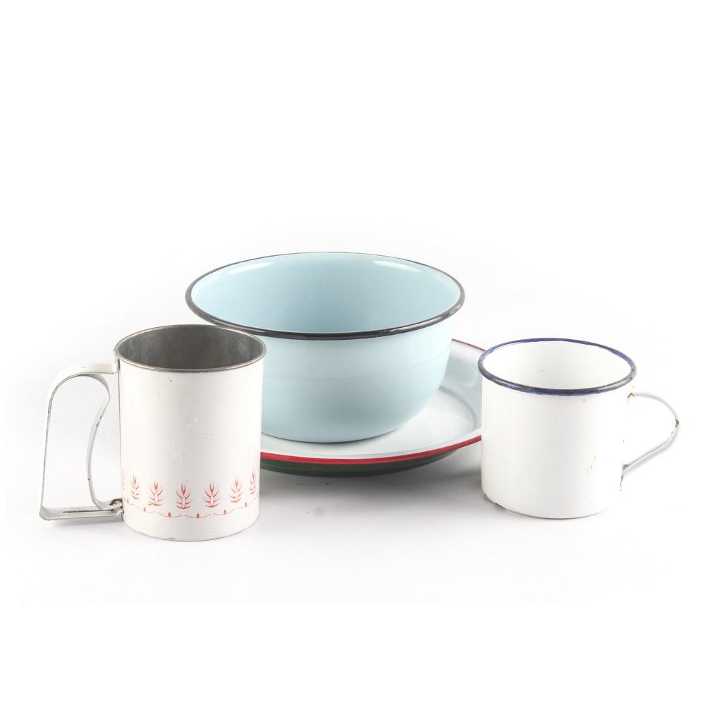 Vintage Enameled Tableware Collection