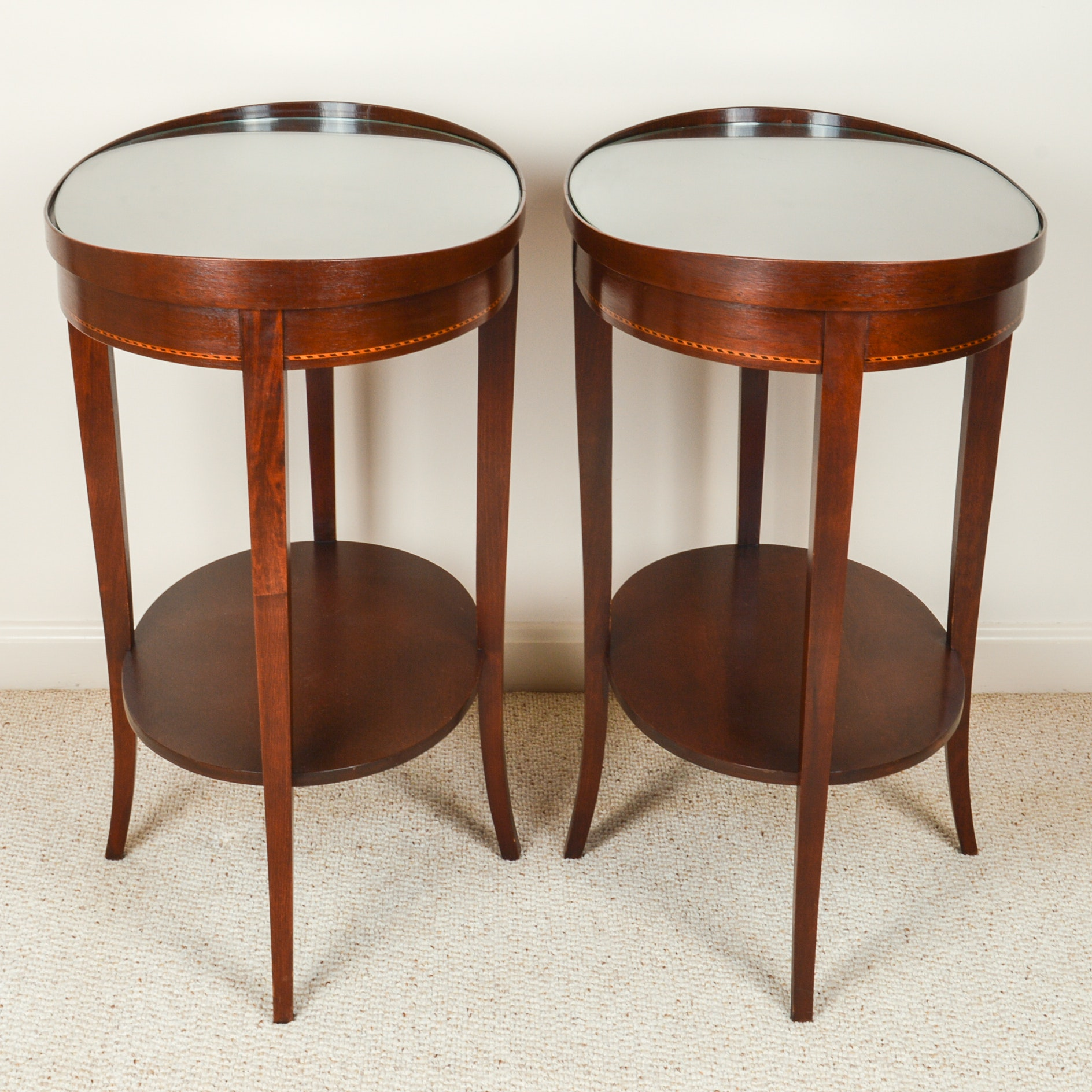 Pair of Oval End Tables