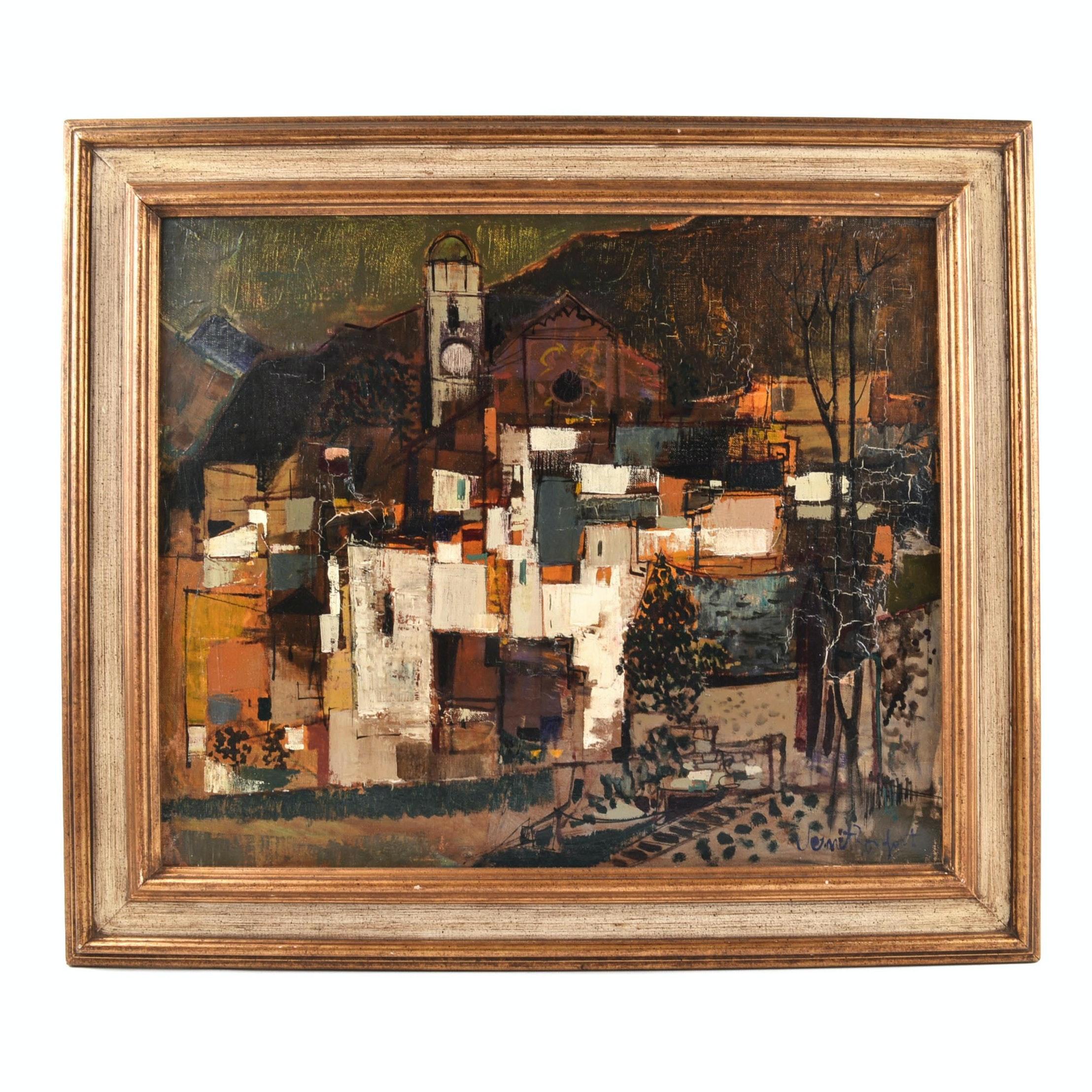 Robert Vernet-Bonfort Oil on Canvas Painting