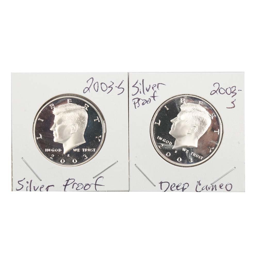 2003-S Kennedy Proof Silver Half Dollars