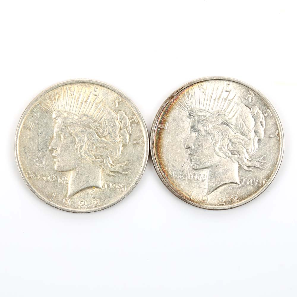 1922 and 1922-S Peace Dollars