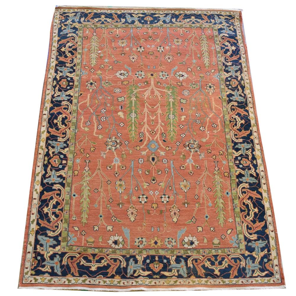 Handwoven Indo-Persian Bijar Wool Area Rug