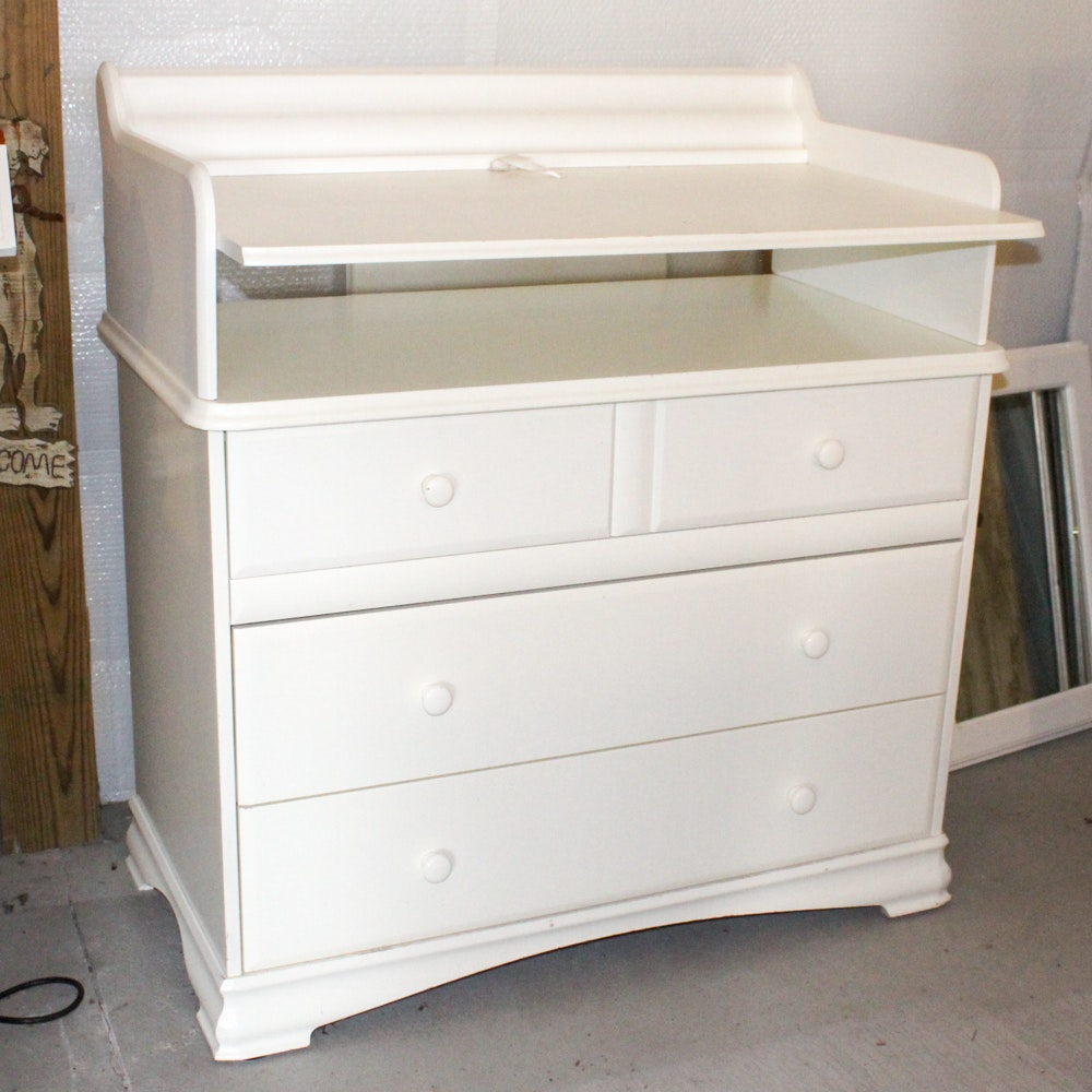 Morigeau Lepine White Veneer Changing Table