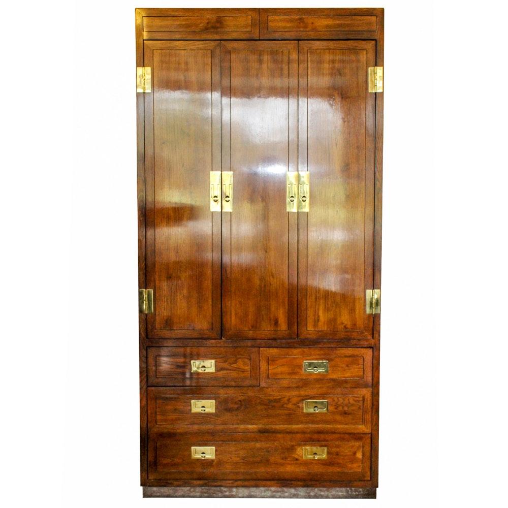 Henredon Furniture Campaign Style Cabinet