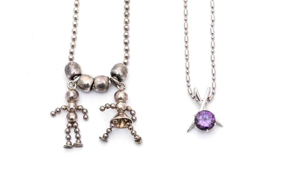 Sterling Silver Pendant Necklaces