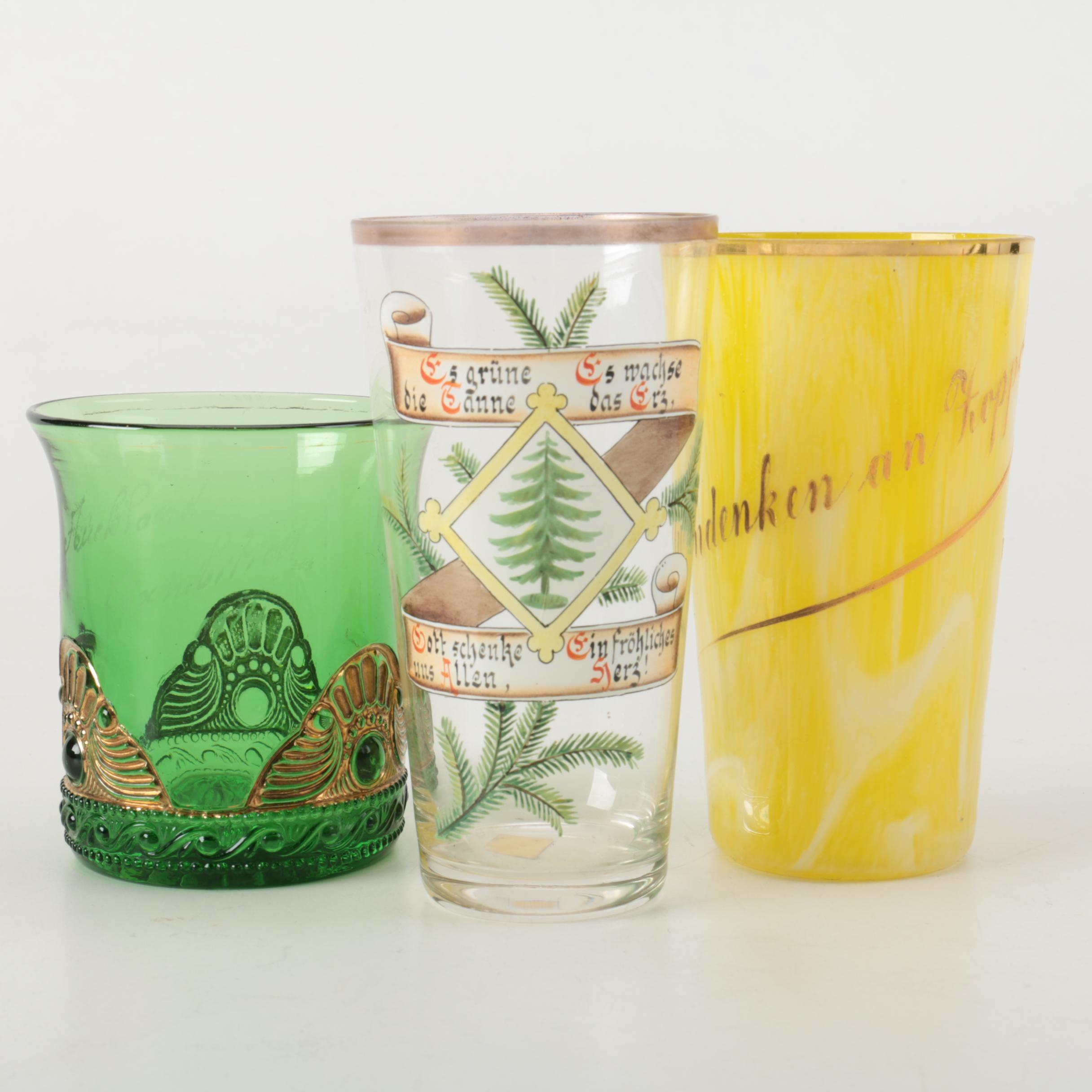 Vintage German Glass Barware