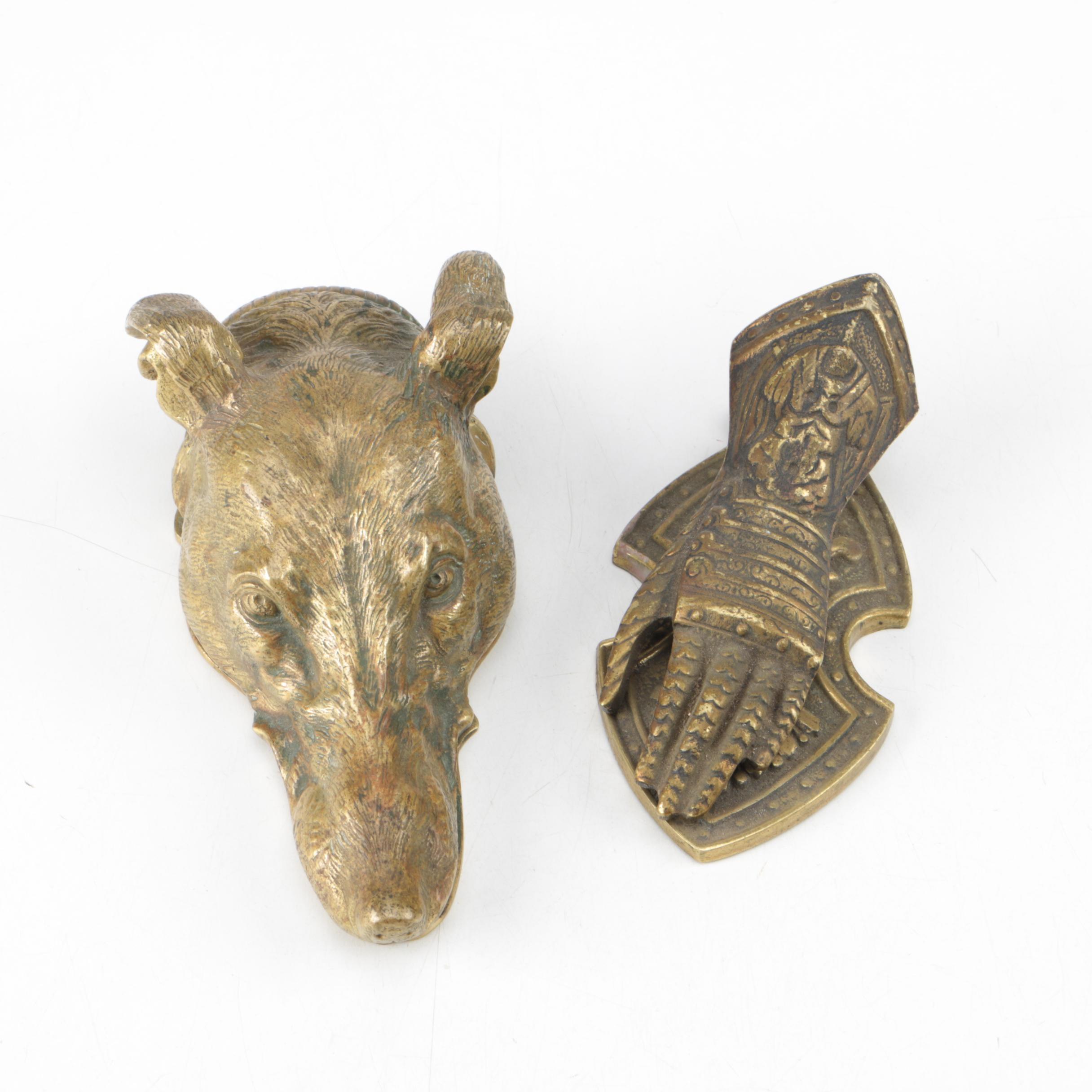 Vintage Figural Brass Paper Clips