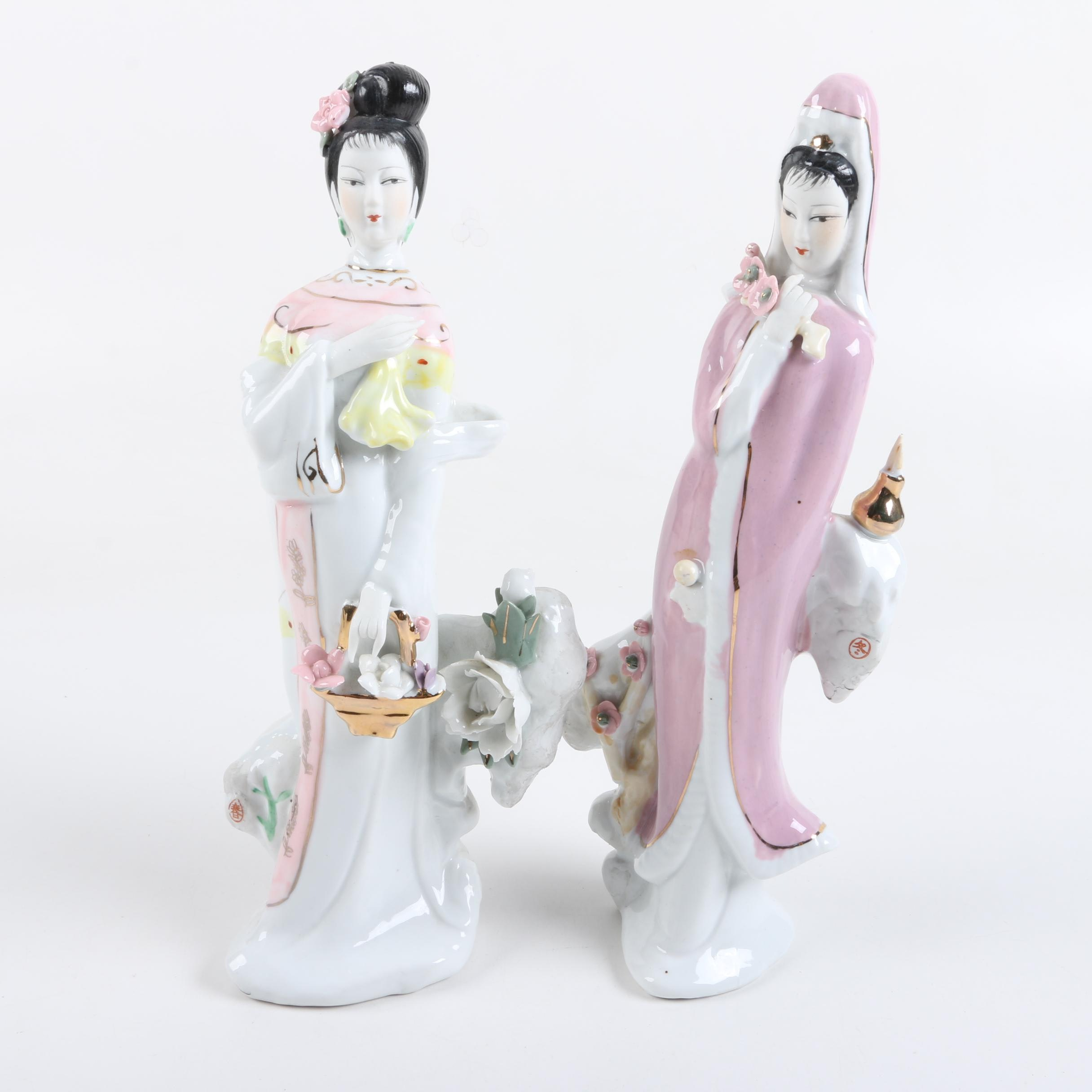 Asian Inspired Porcelain Figurines