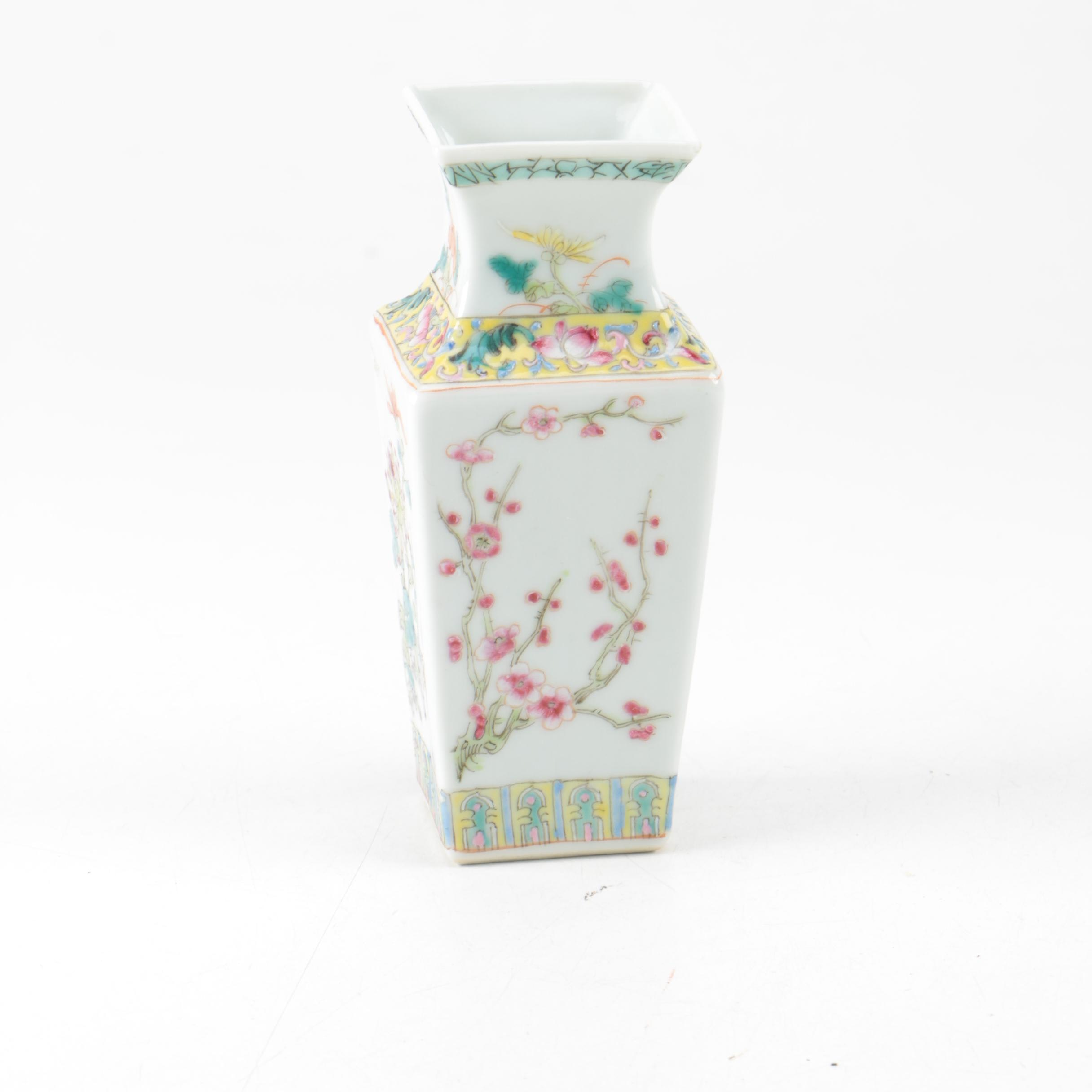 Chinese Porcelain Flowers of the Four Seasons Vase