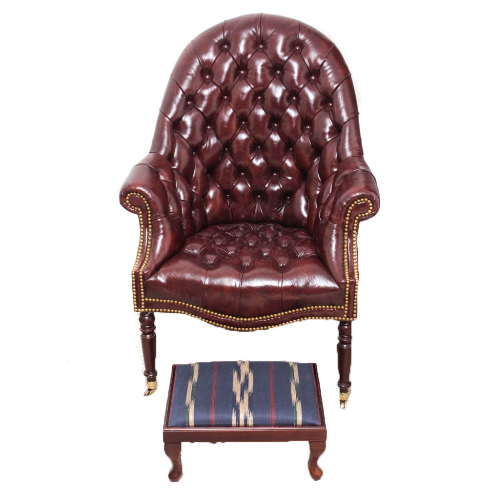 Hancock & Moore Tufted Leather Chair