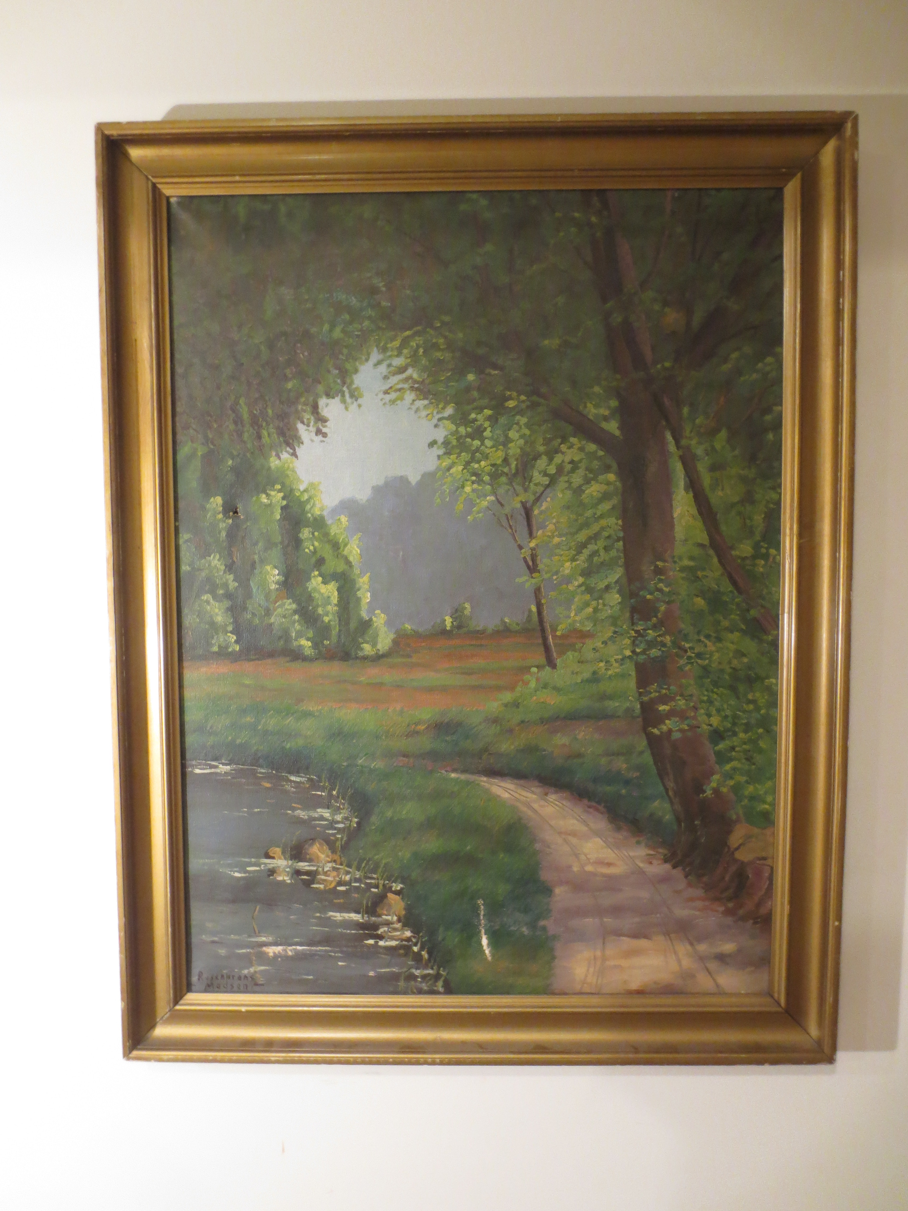 Rosencrantz Madsen Oil on Canvas Landscape Painting