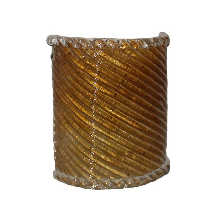 Minka Lavery One Light Swirl Amber Piastra Glass Sconce