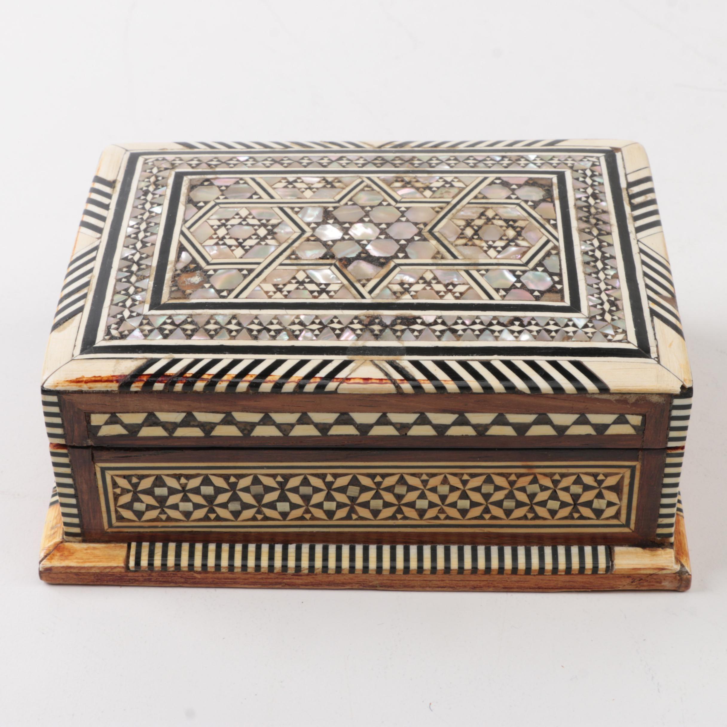 Mother of Pearl Khatam Trinket Box