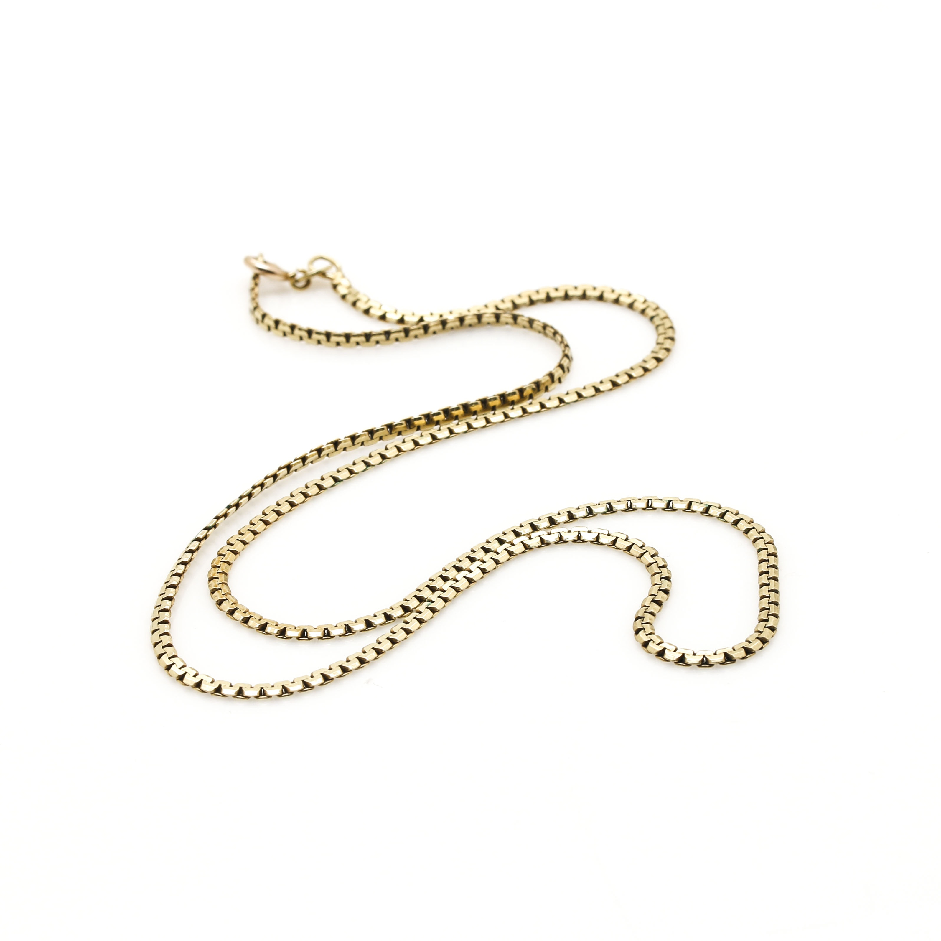 14K Yellow Gold C Link Chain Necklace