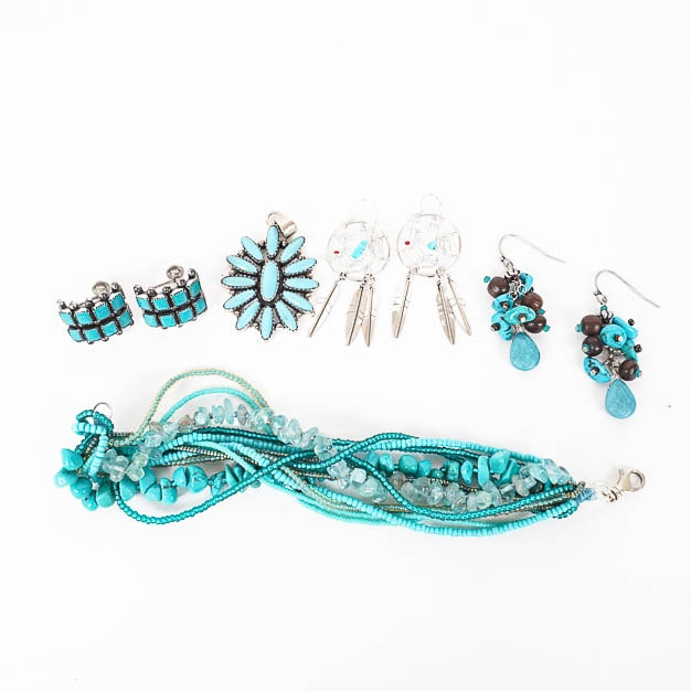 Turquoise Jewelry in Sterling Silver