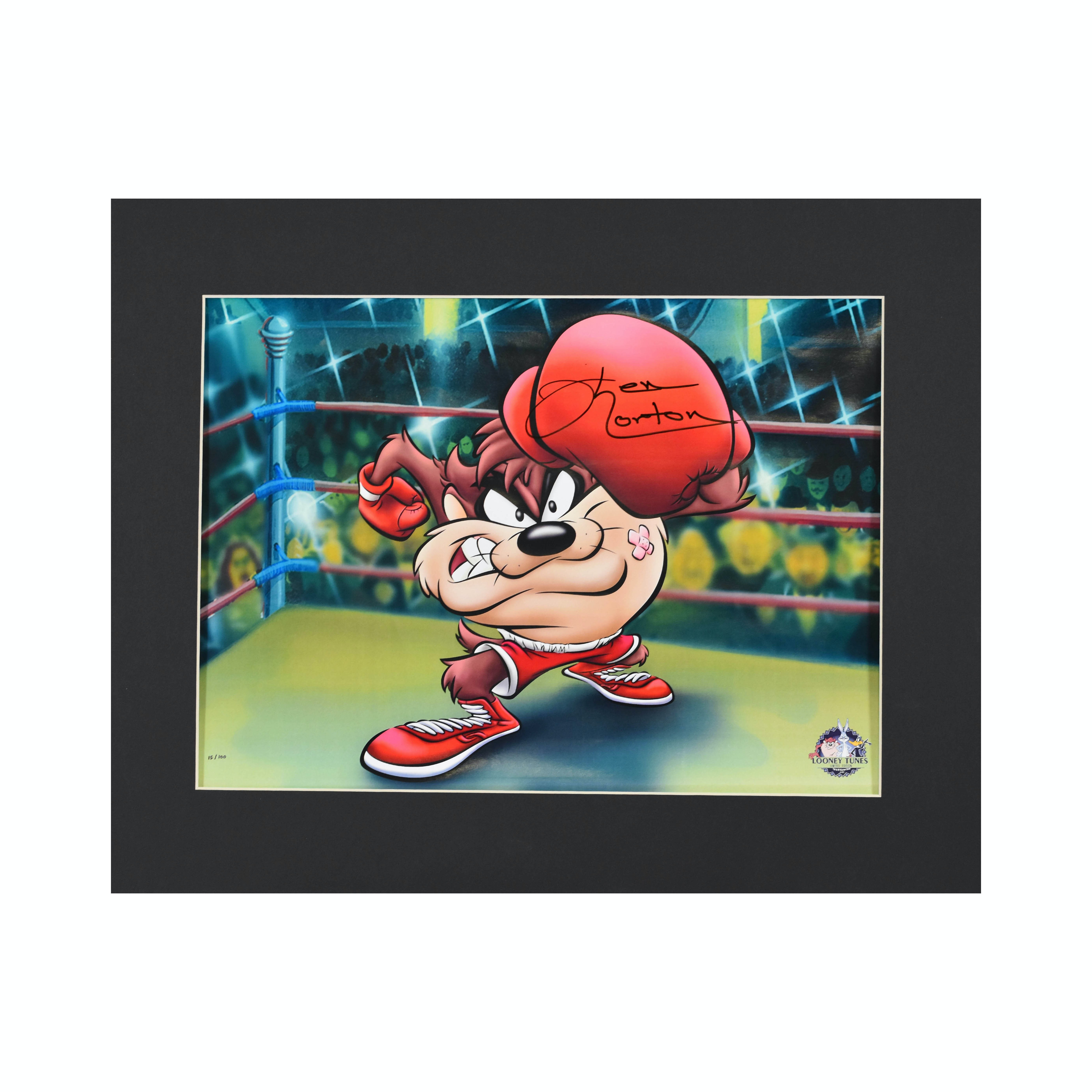Warner Bros. LE Lithograph - Knock Out Taz signed by Ken Norton