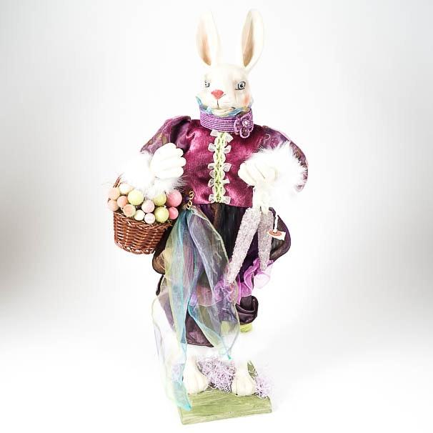 Mixed Media Easter Bunny Figurine