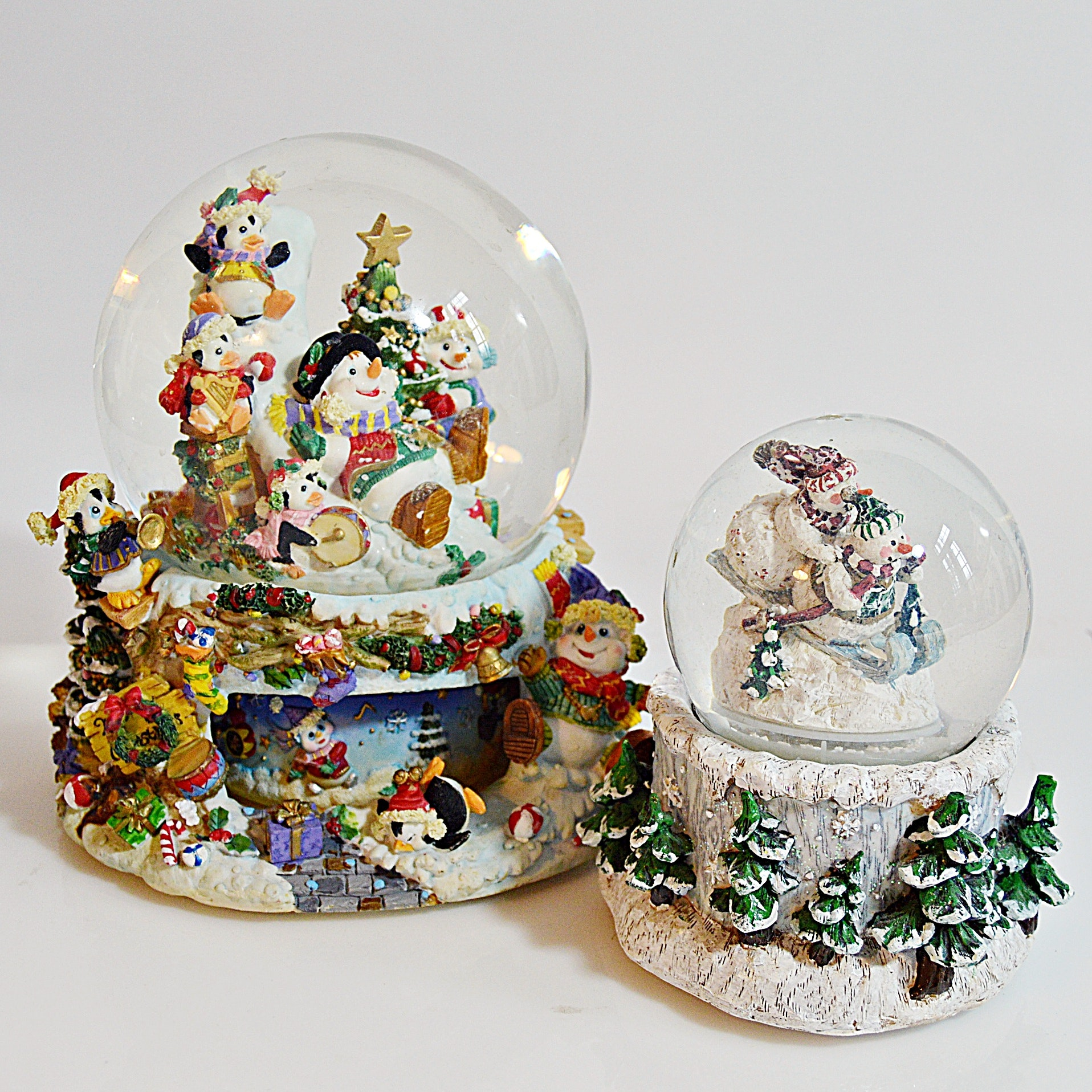 Christmas Snow Globes, One Musical
