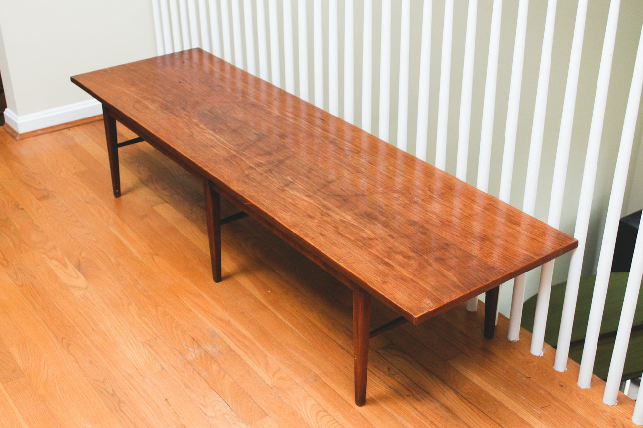 Mid Modern Wooden Coffee Table