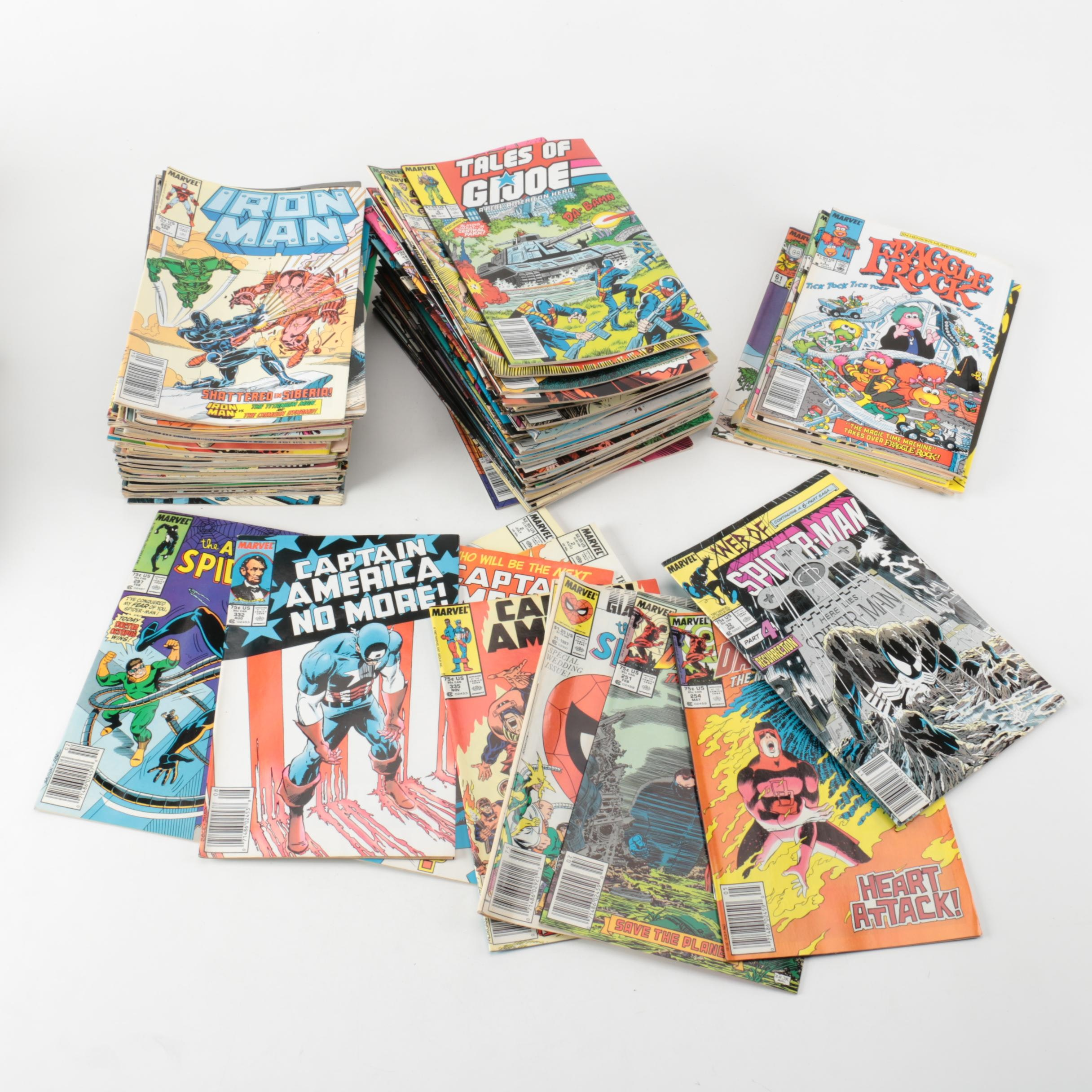 Collection of Marvel Comic Books