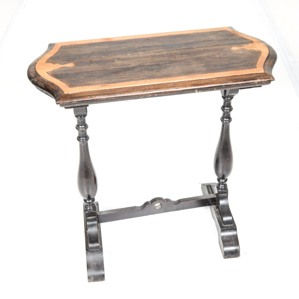 Vintage Two-Tone Side Table