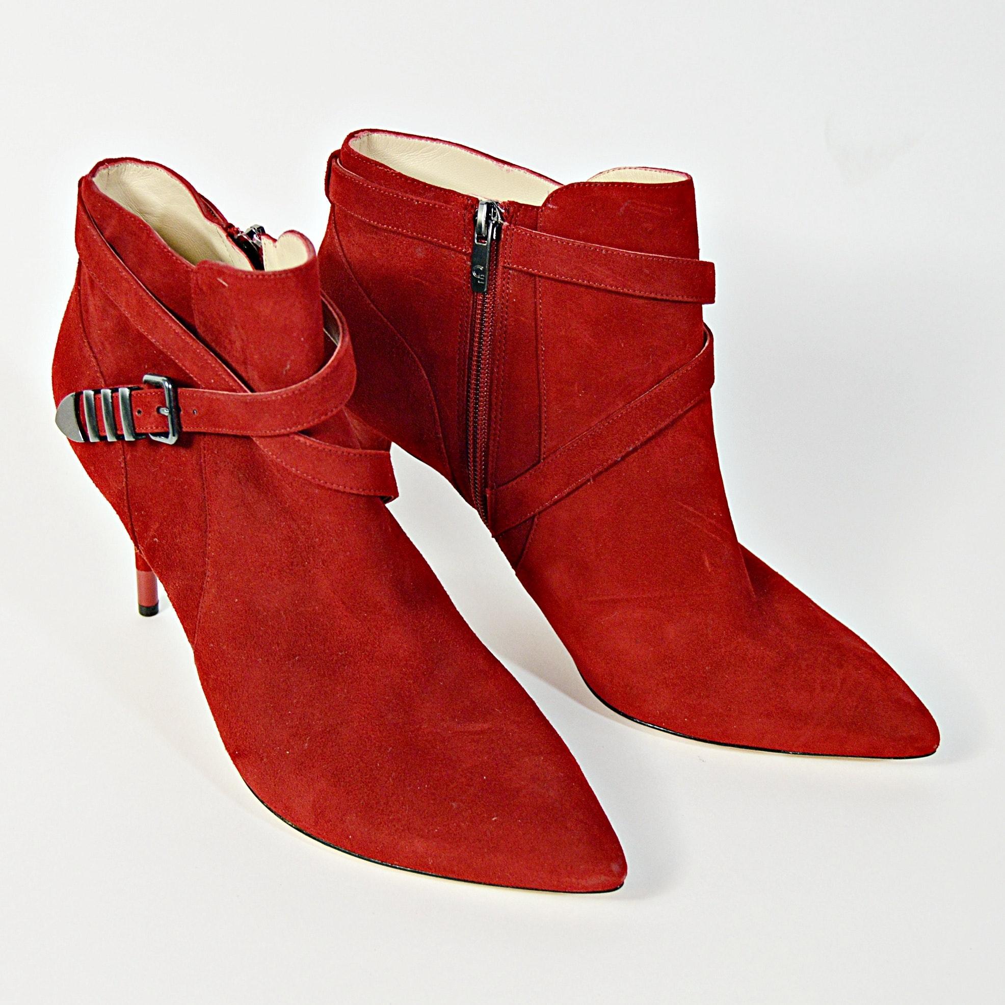 Carolinna Espinosa Red Suede Boots, 10M