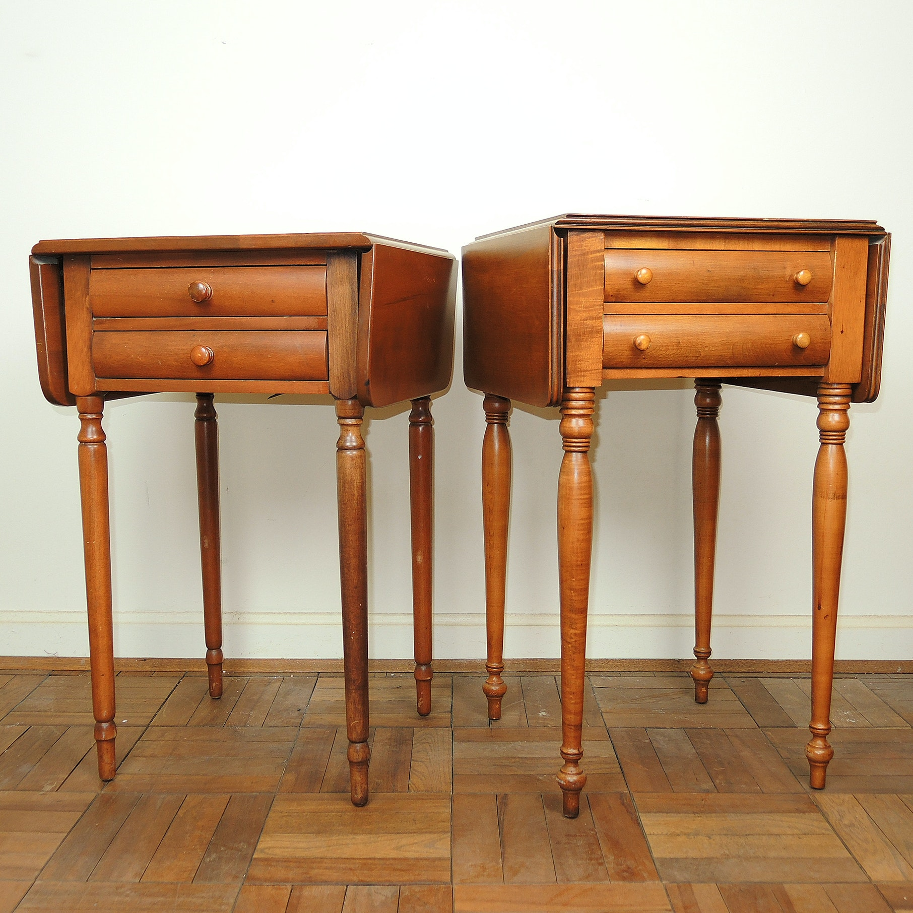Whitney Birch Drop Leaf Side Tables ...