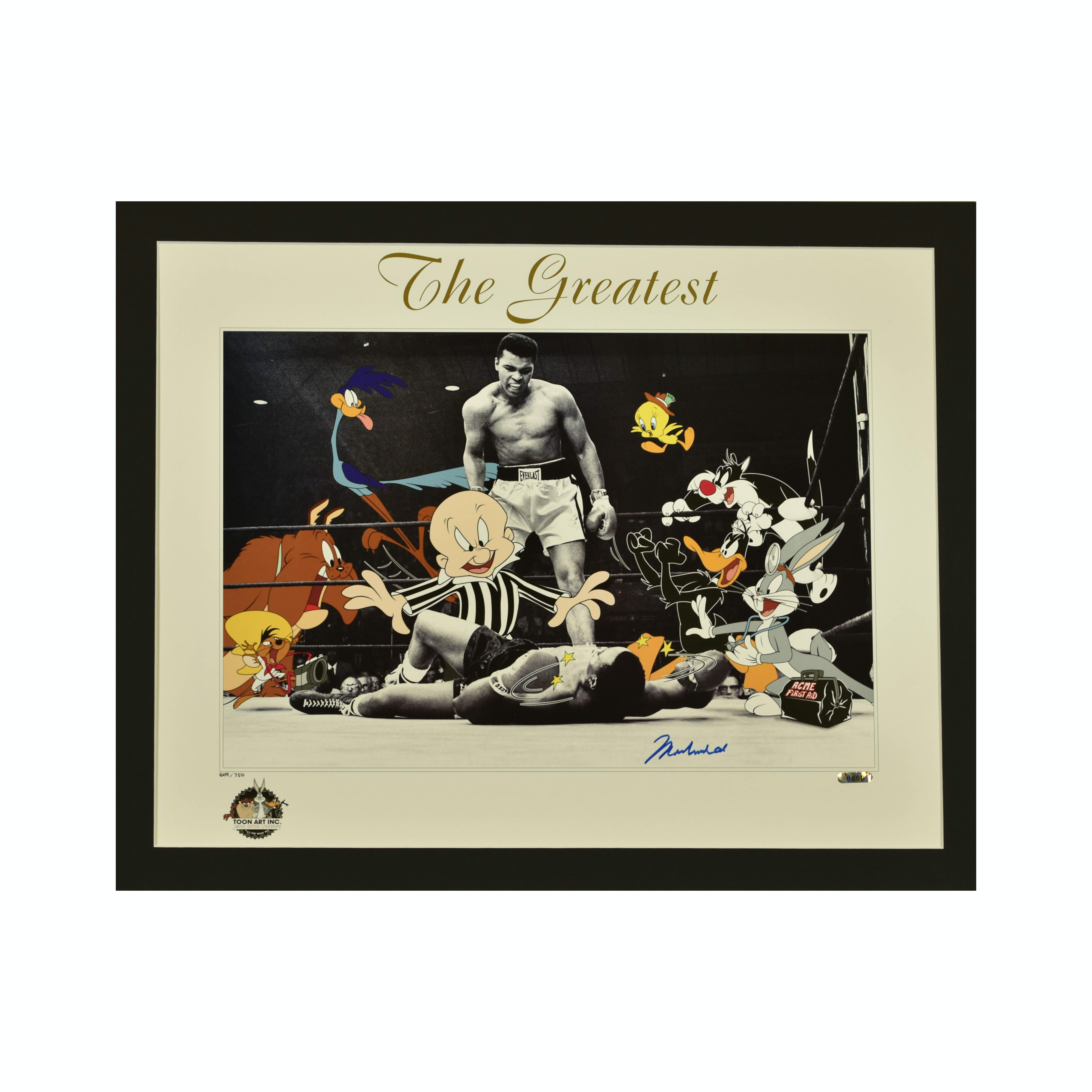 """Signed Limited Edition Lithograph of Muhammed Ali entitled """"The Greatest"""""""