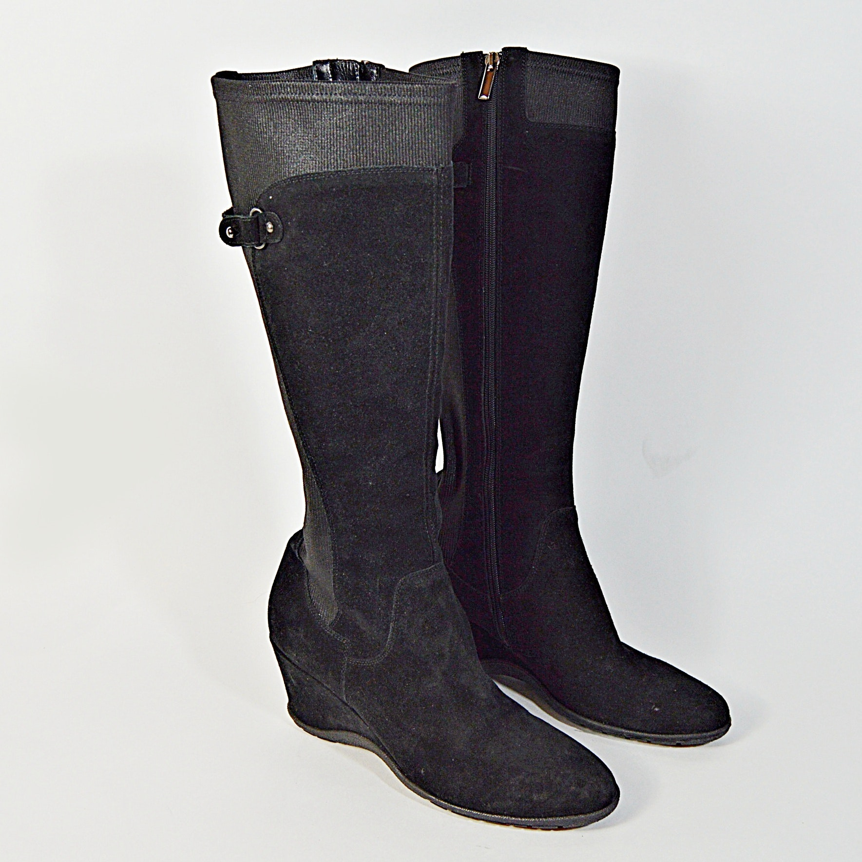 Aquatalia by Marvin K. Black Leather Boots, 10M