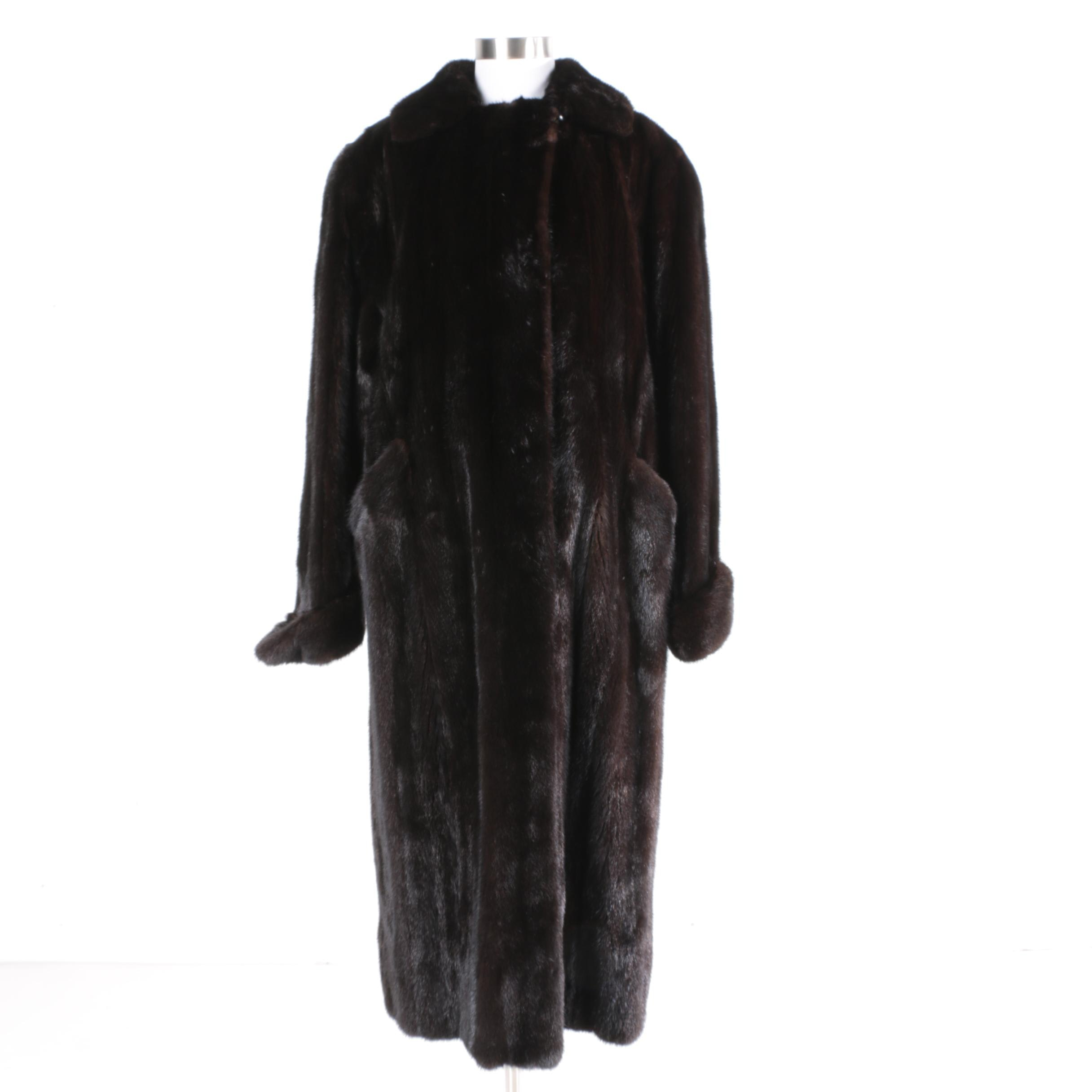 Women's Vintage Mink Full-Length Coat