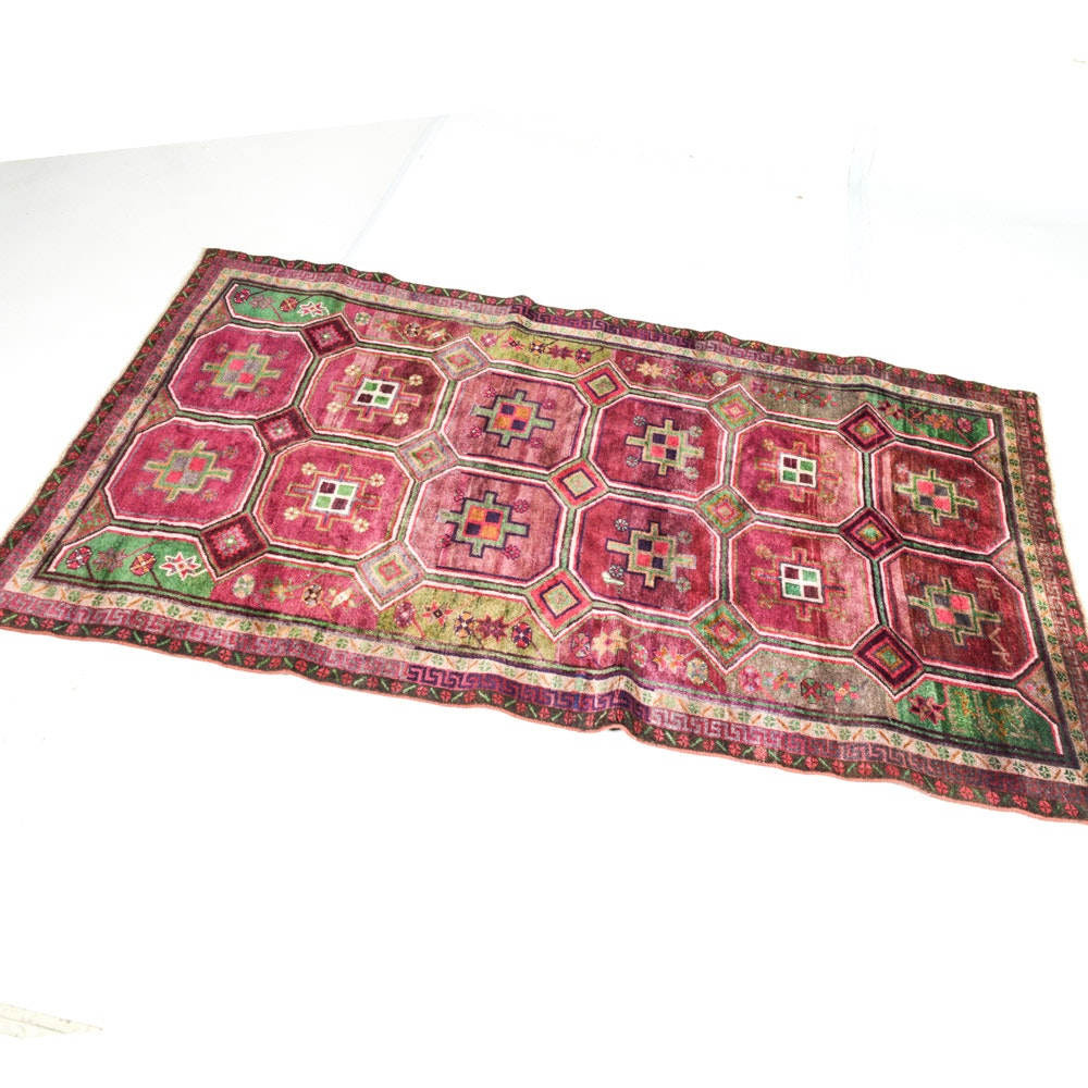Vintage Hand-Knotted Persian Qashqai Rug
