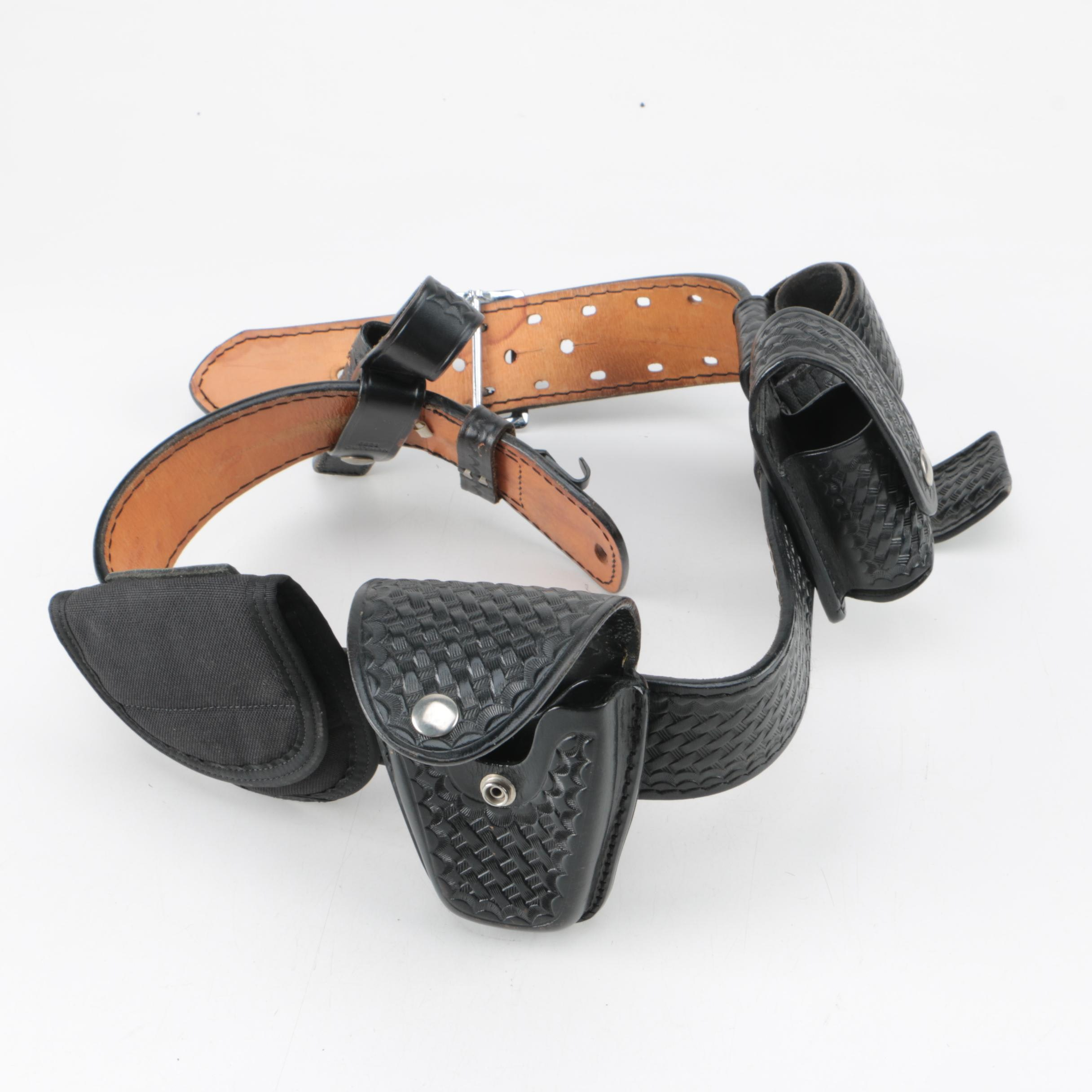 Dutyman Leather Belt with Holster