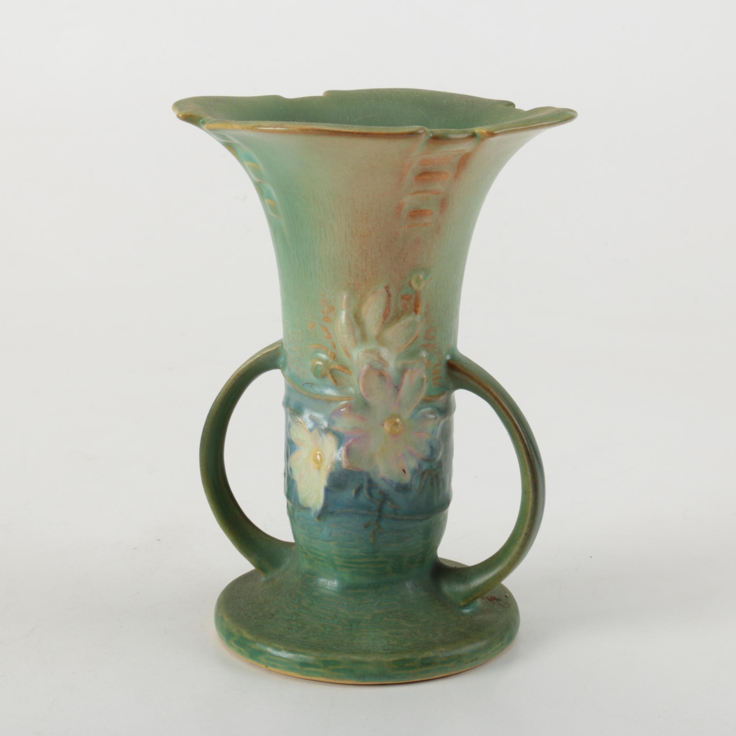 """Roseville """"Cosmos"""" Ceramic Vase"""