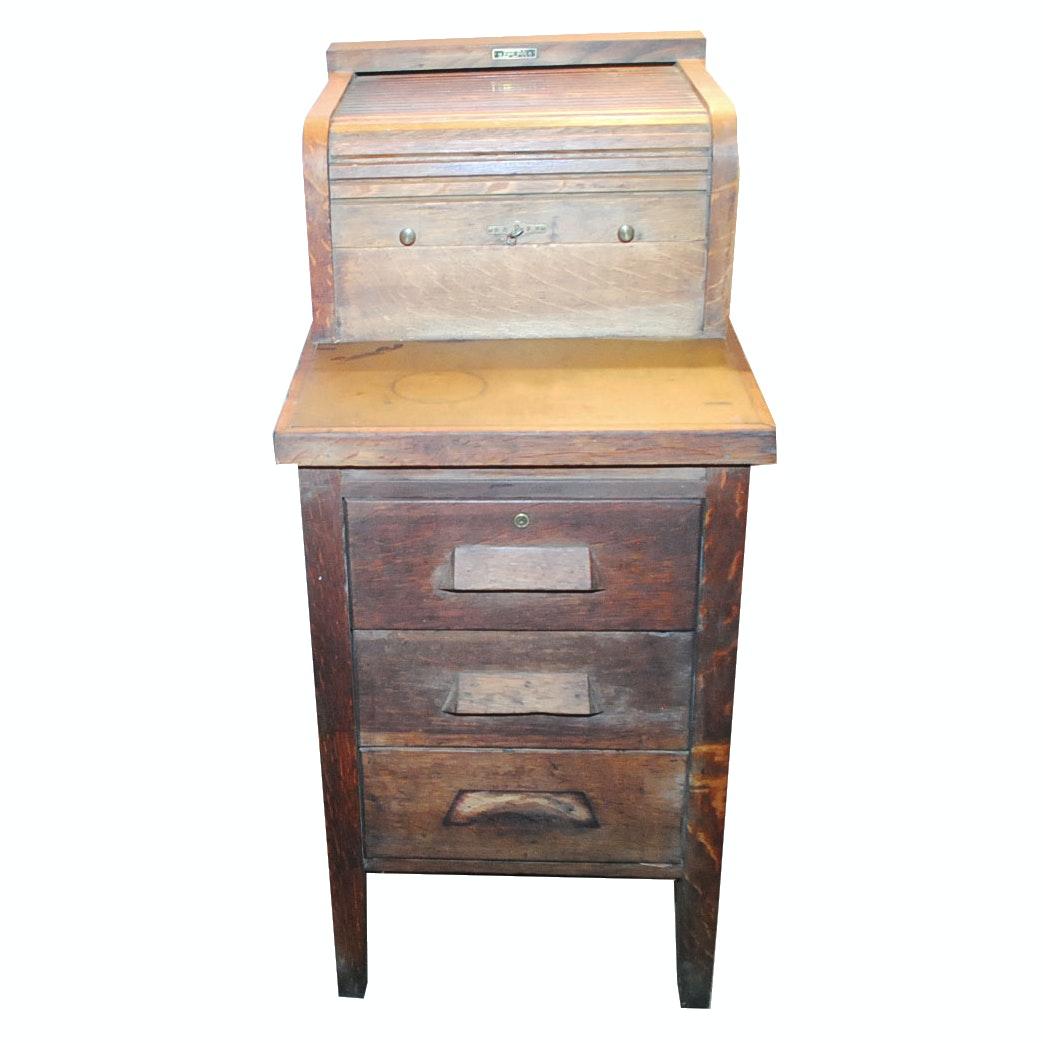 Circa 1900 McCaskey Register Co. Filing Cabinet Desk