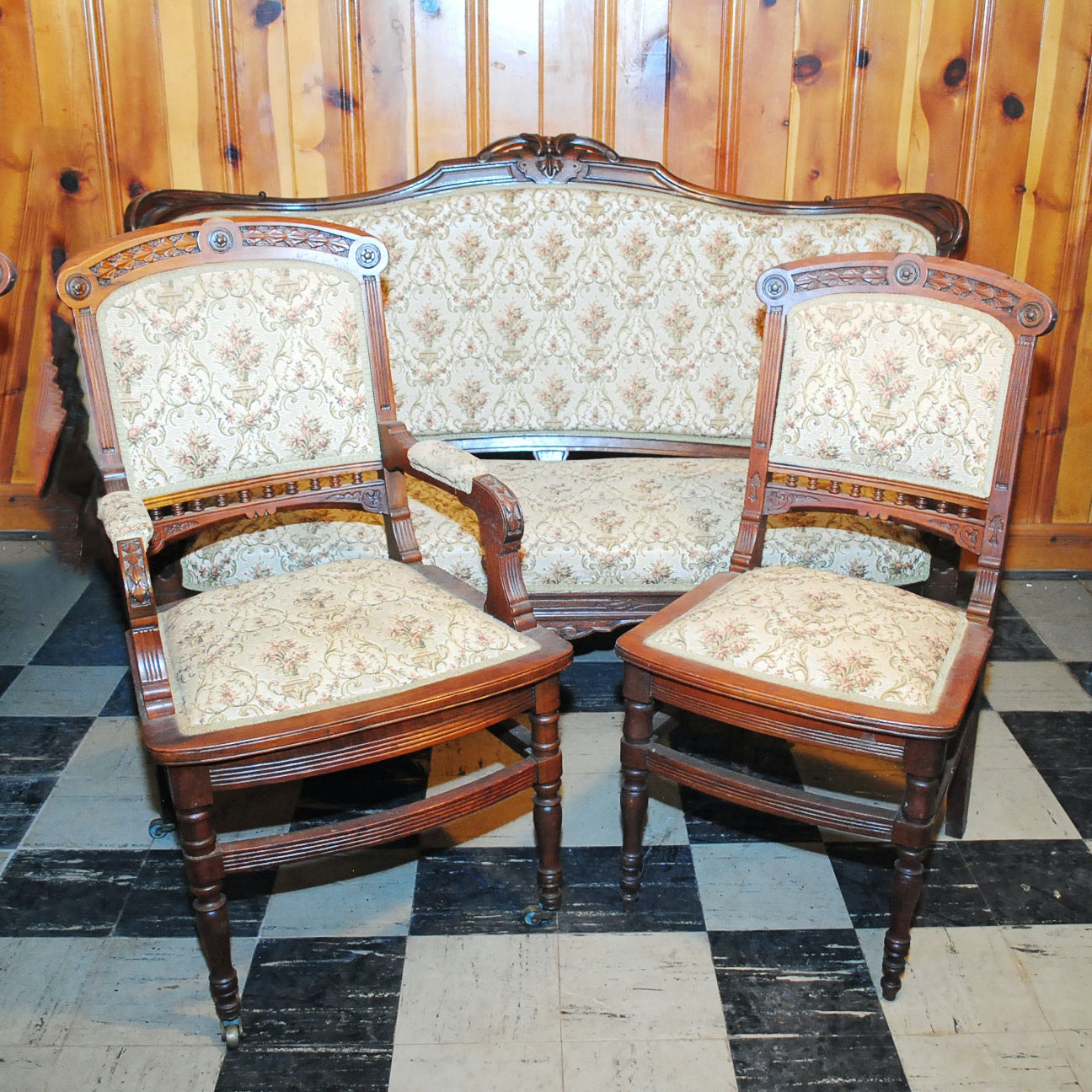 Antique Renaissance Revival Sofa And Eastlake Chairs