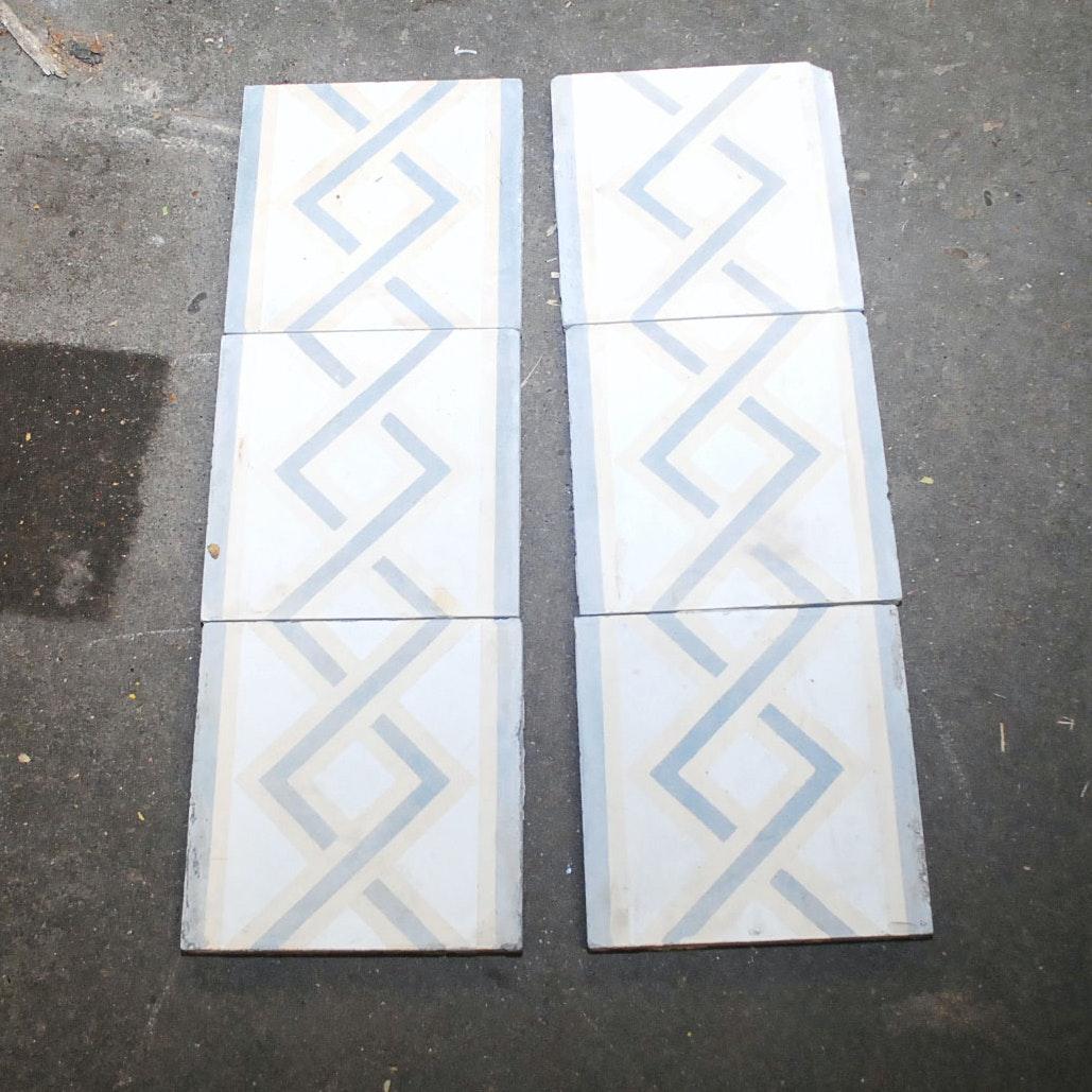 Hand-Painted Decorative Concrete Tiles