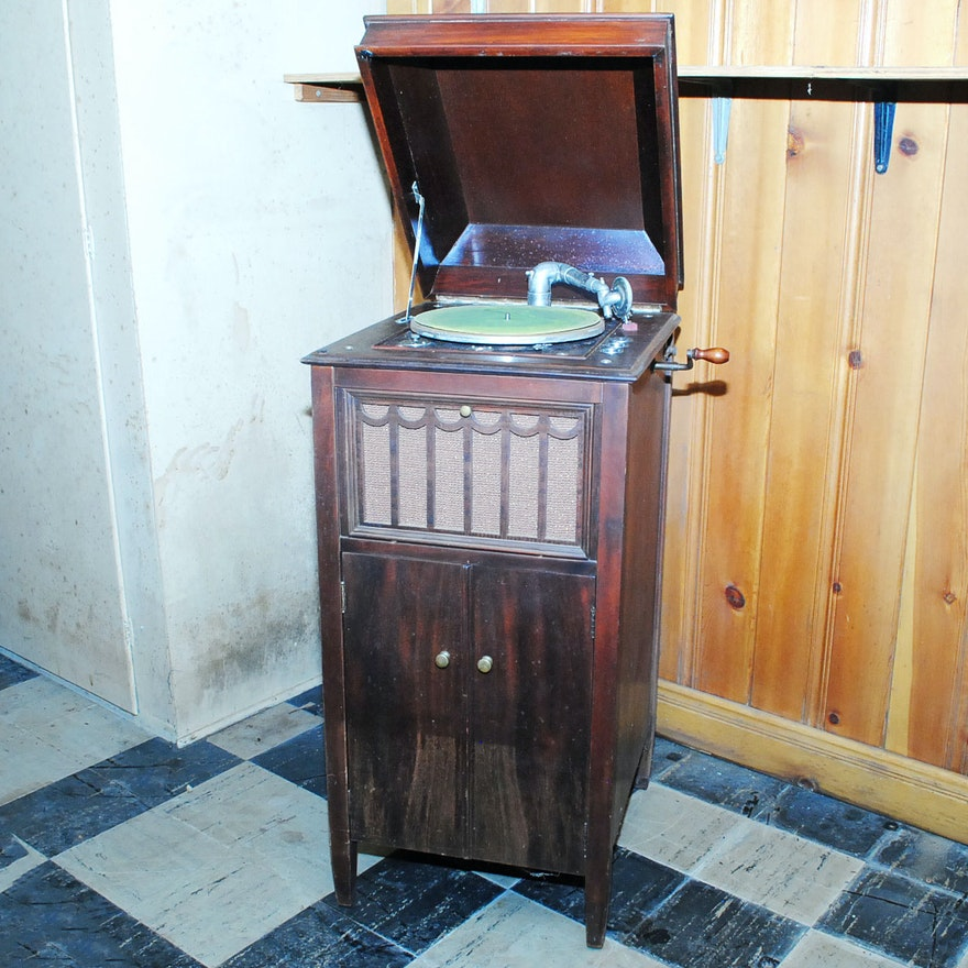 Vintage Record Player Cabinet ... - Vintage Record Player Cabinet : EBTH
