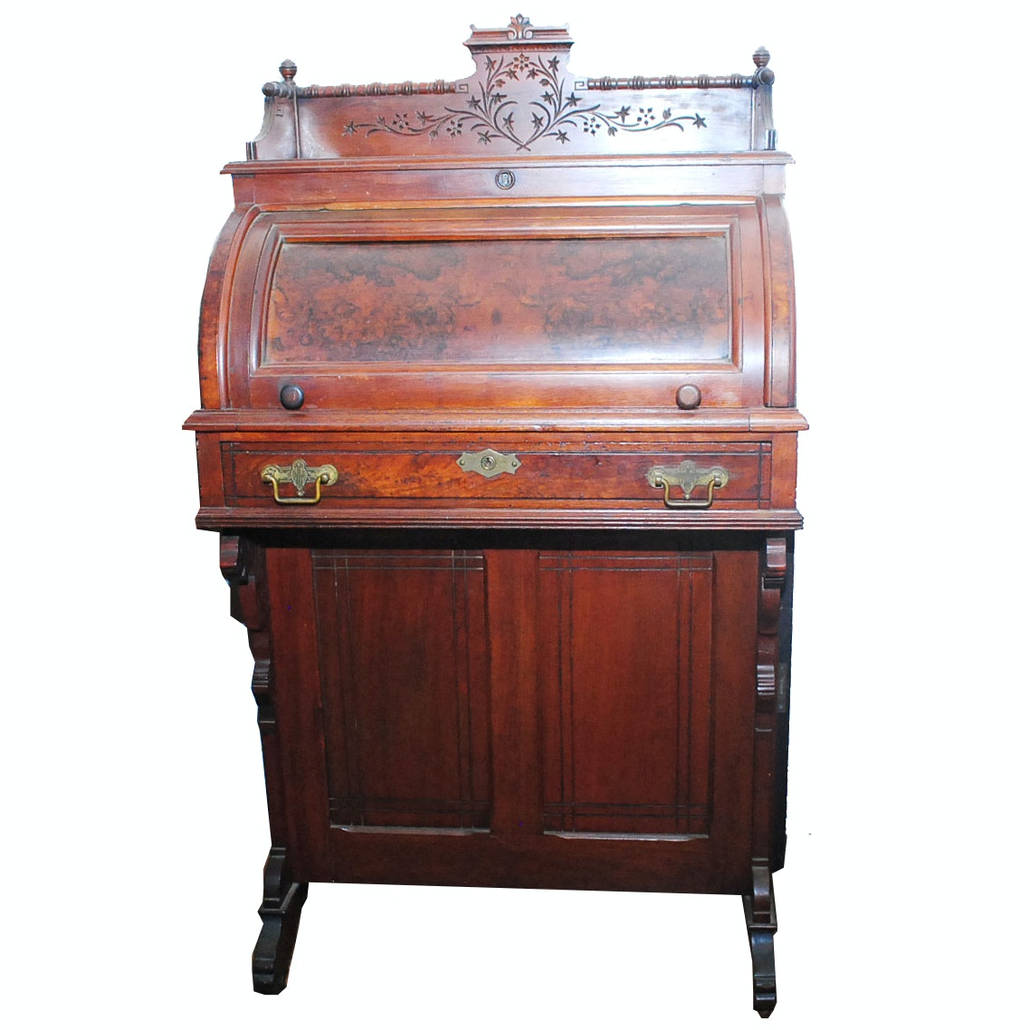 Antique American Eastlake Cylinder Desk